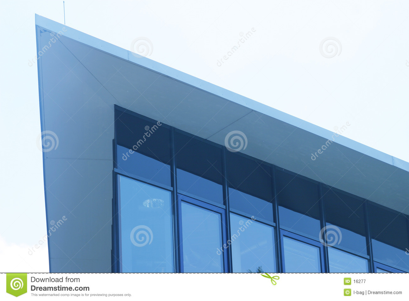 Modern building triangle edge