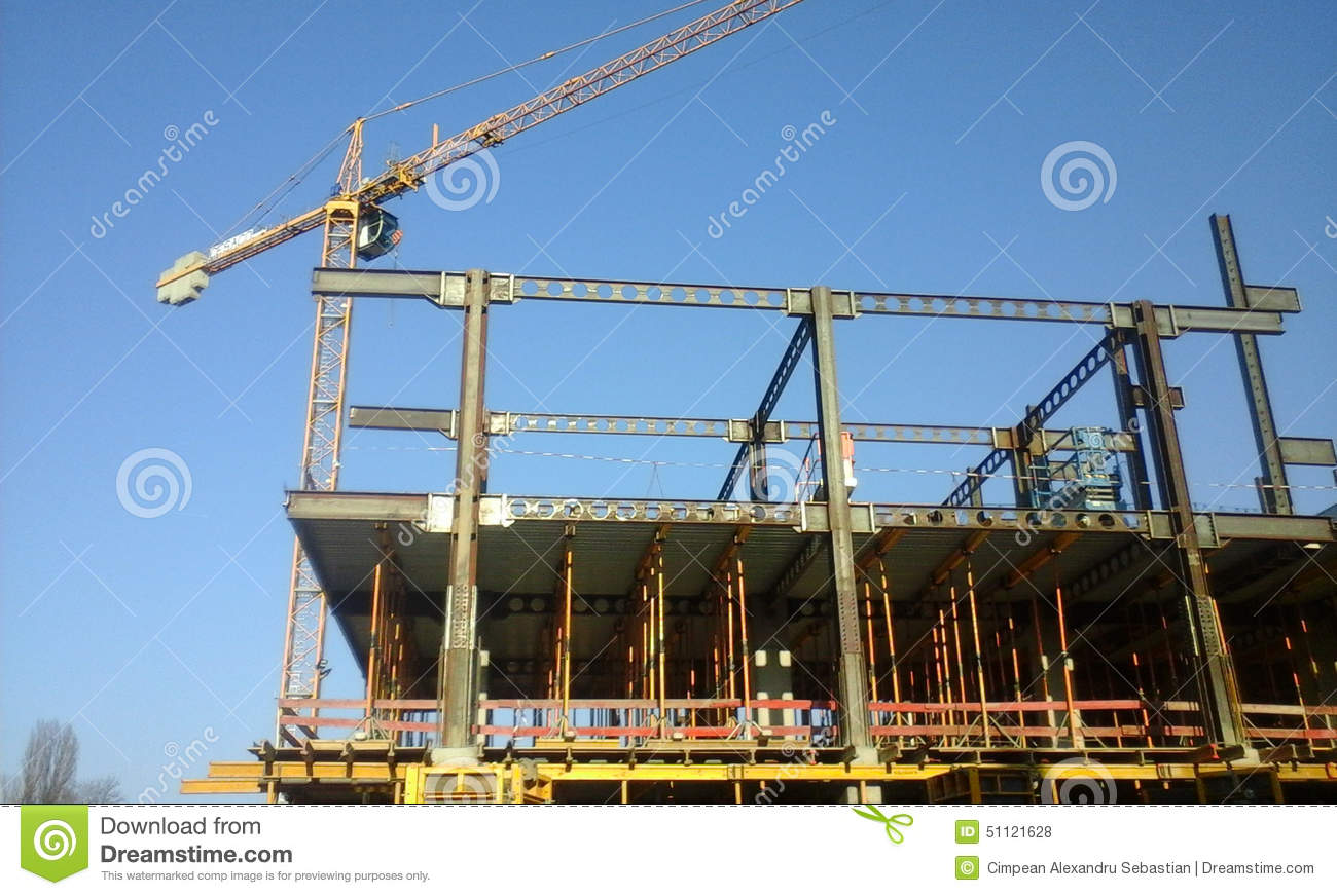 Modern building under construction stock photo image for Modern building construction