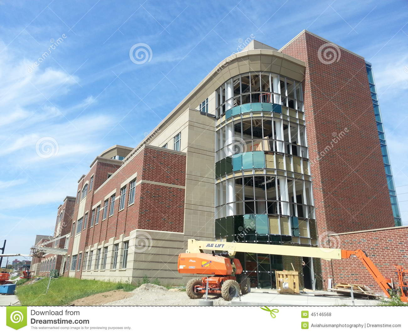 Modern building under construction marshall university for New construction windows reviews