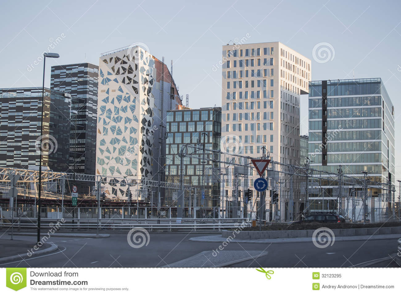 Modern Buildings In Downtown Oslo Stock Image Image