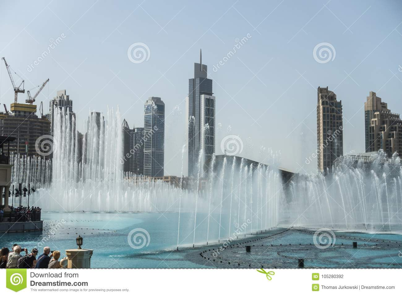 Modern buildings at dubai creek stock photo image of east.