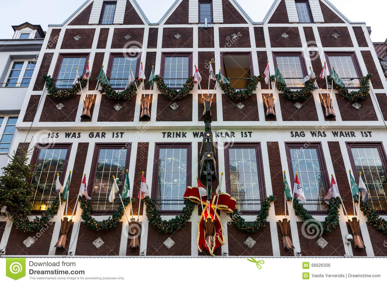 Modern Buildings In Dusseldorf, Germany. Architecture Details Of ...