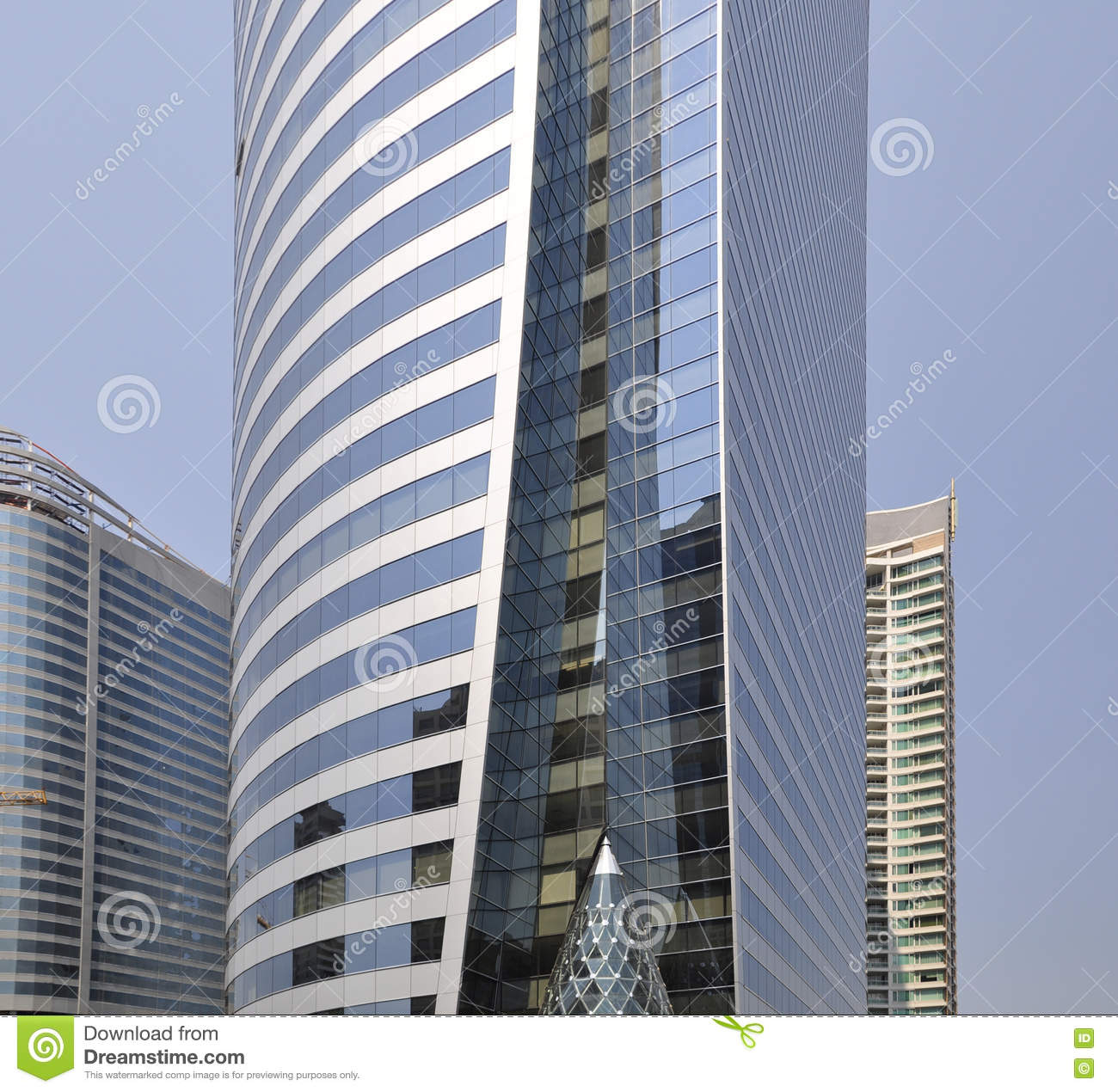 Modern buildings soaring into blue sky stock photo image for Beautiful modern buildings