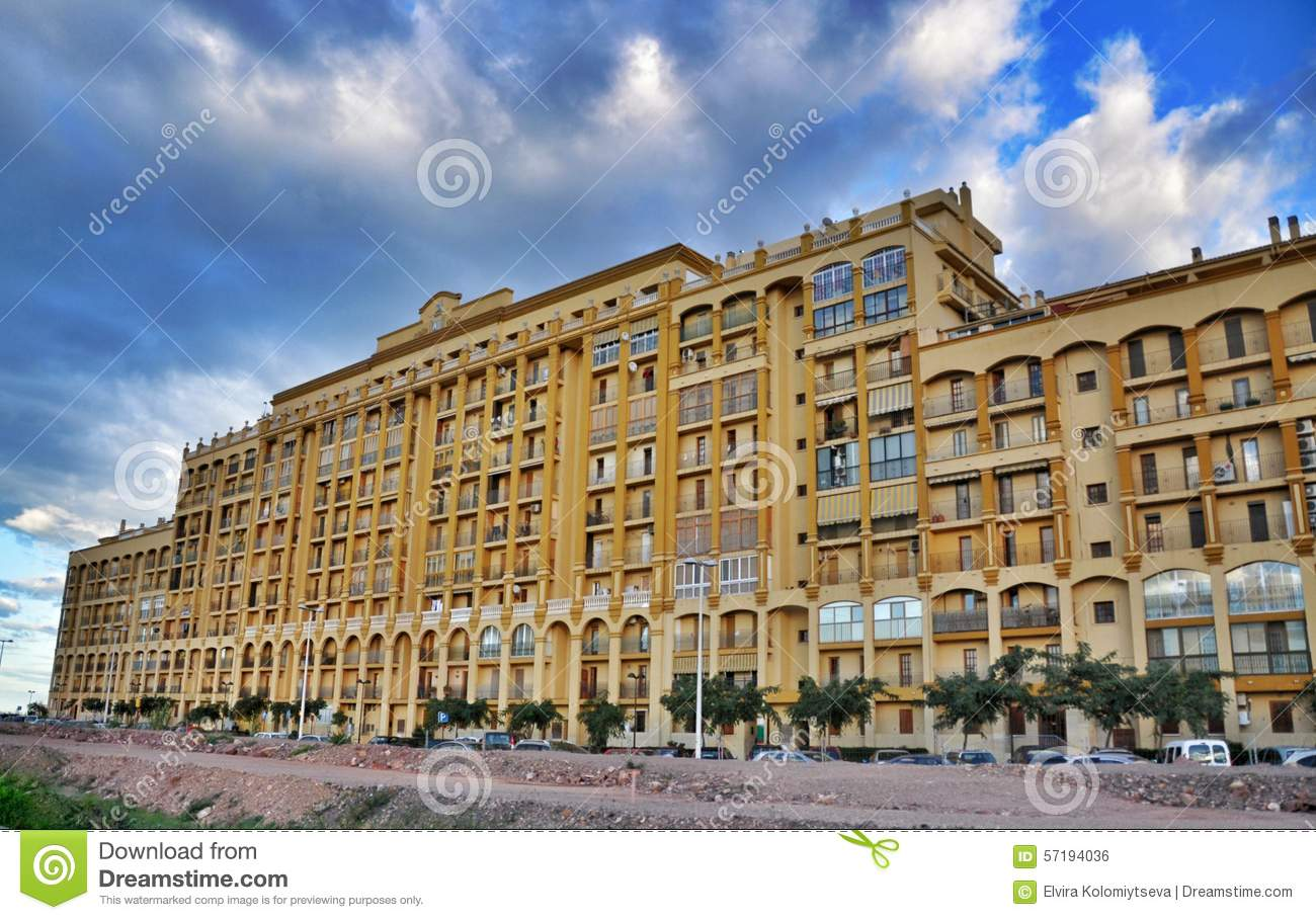 Modern buildings in valencia spain stock photo image for Contemporary residential buildings