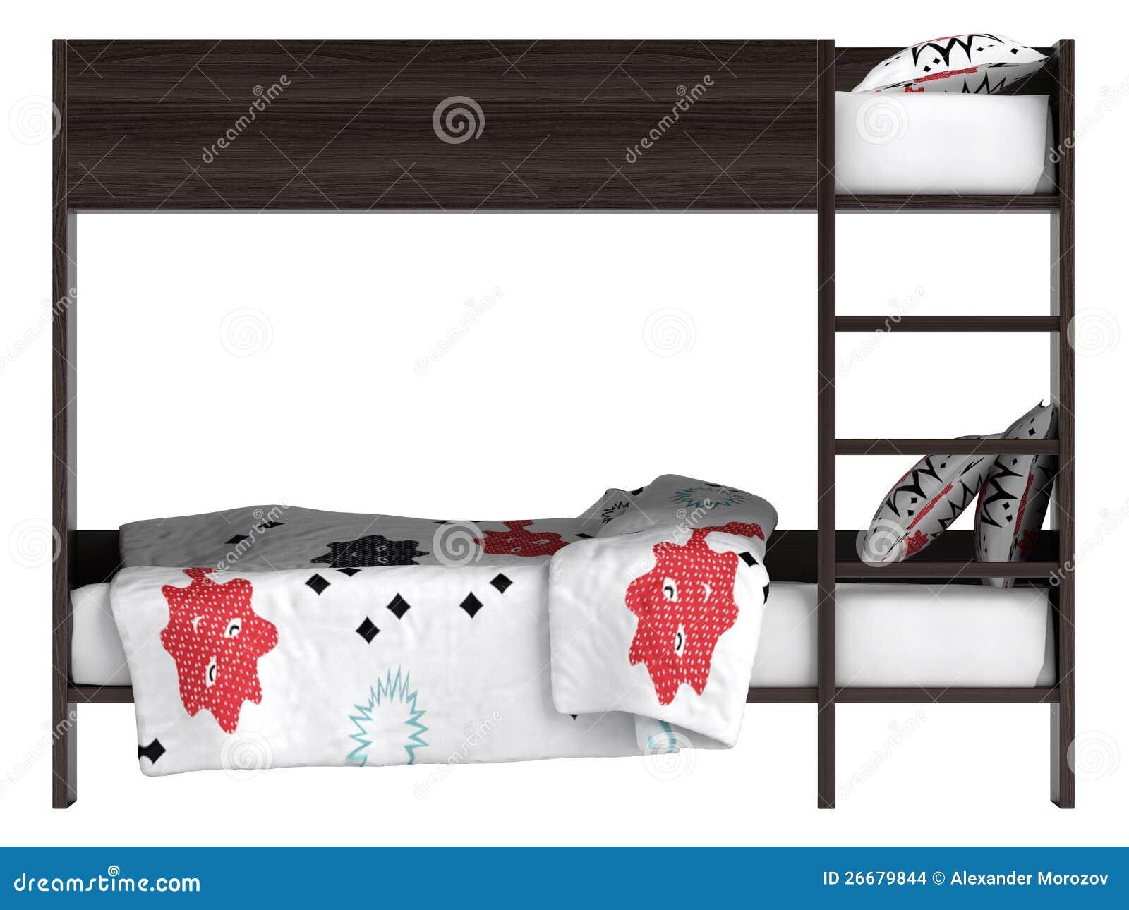 Modern Bunk Bed With Bedding Stock Illustration Illustration Of Climb Bedroom 26679844