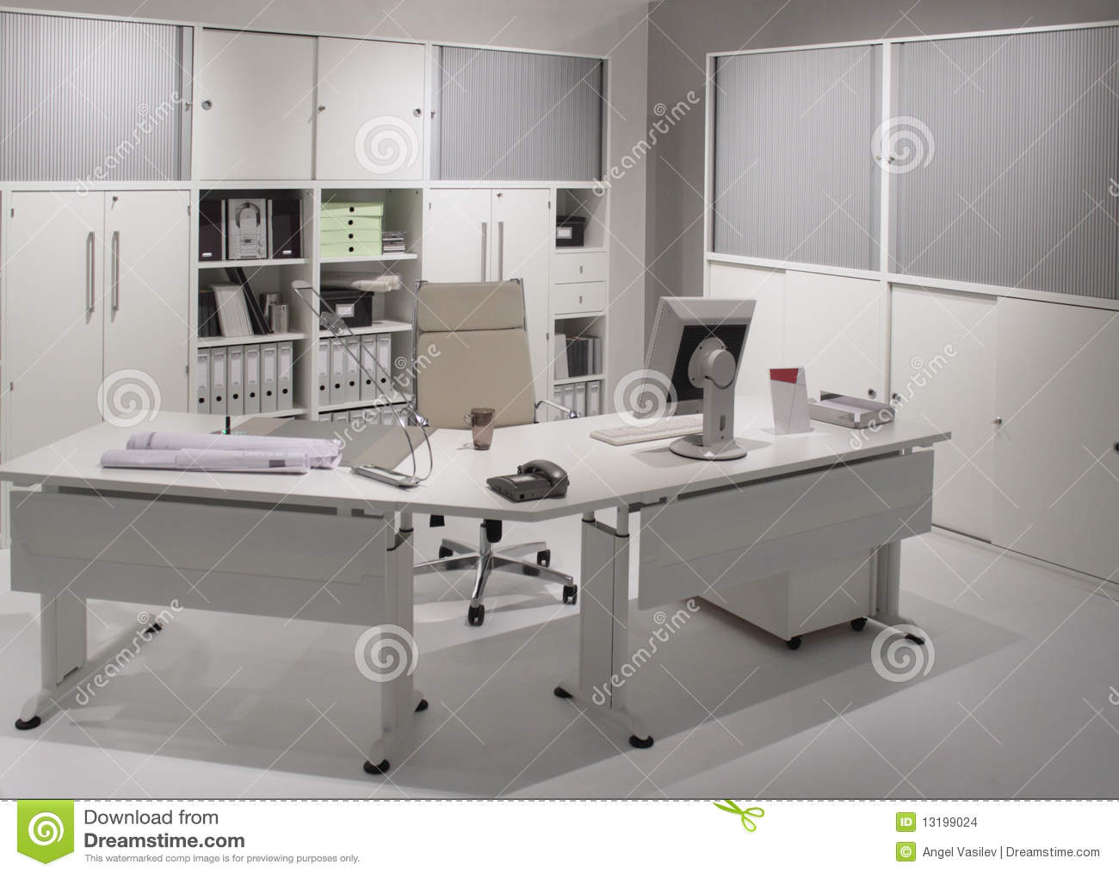 Modern bureau binnenlands ontwerp stock afbeeldingen afbeelding 13199024 - Coin bureau ontwerp ...