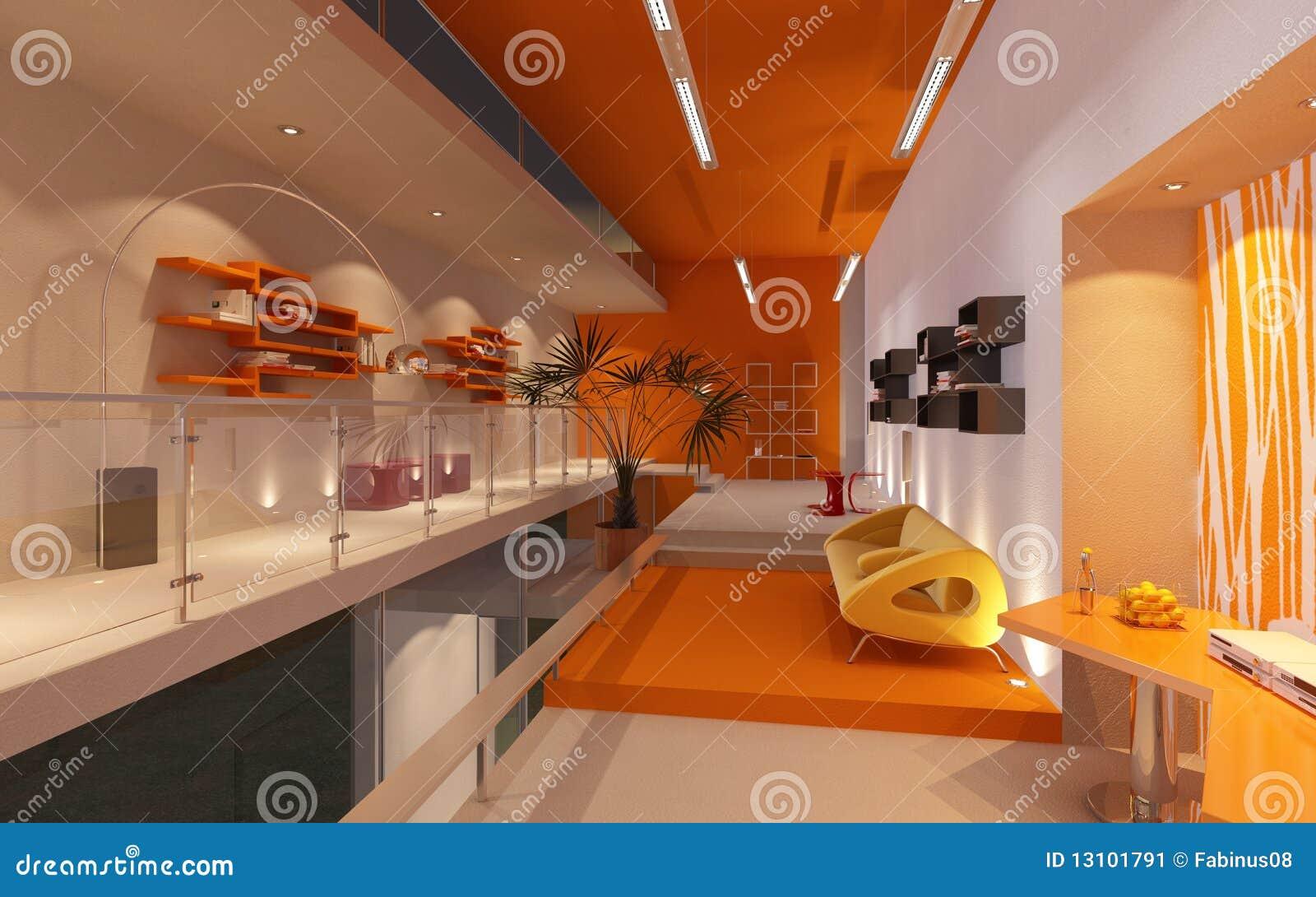 Modern bureau in zolder of zolder stock afbeelding beeld for 3d planner zolder