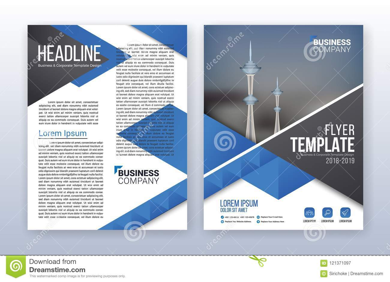Modern business annual report template multipurpose flyter back modern business annual report template multipurpose flyter back flashek Gallery