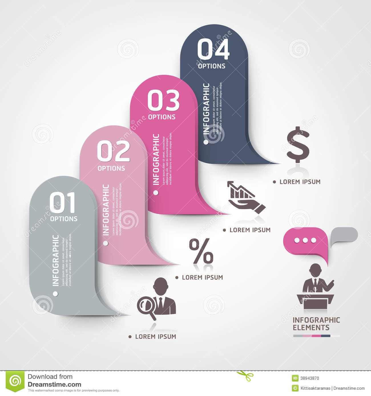 modern business bubble speech template style stock vector