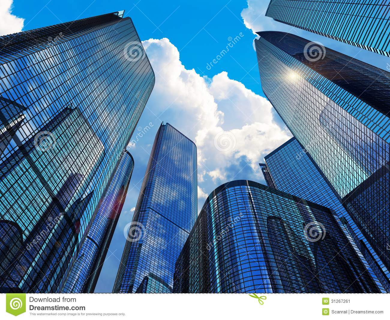 modern business buildings stock illustration illustration of light