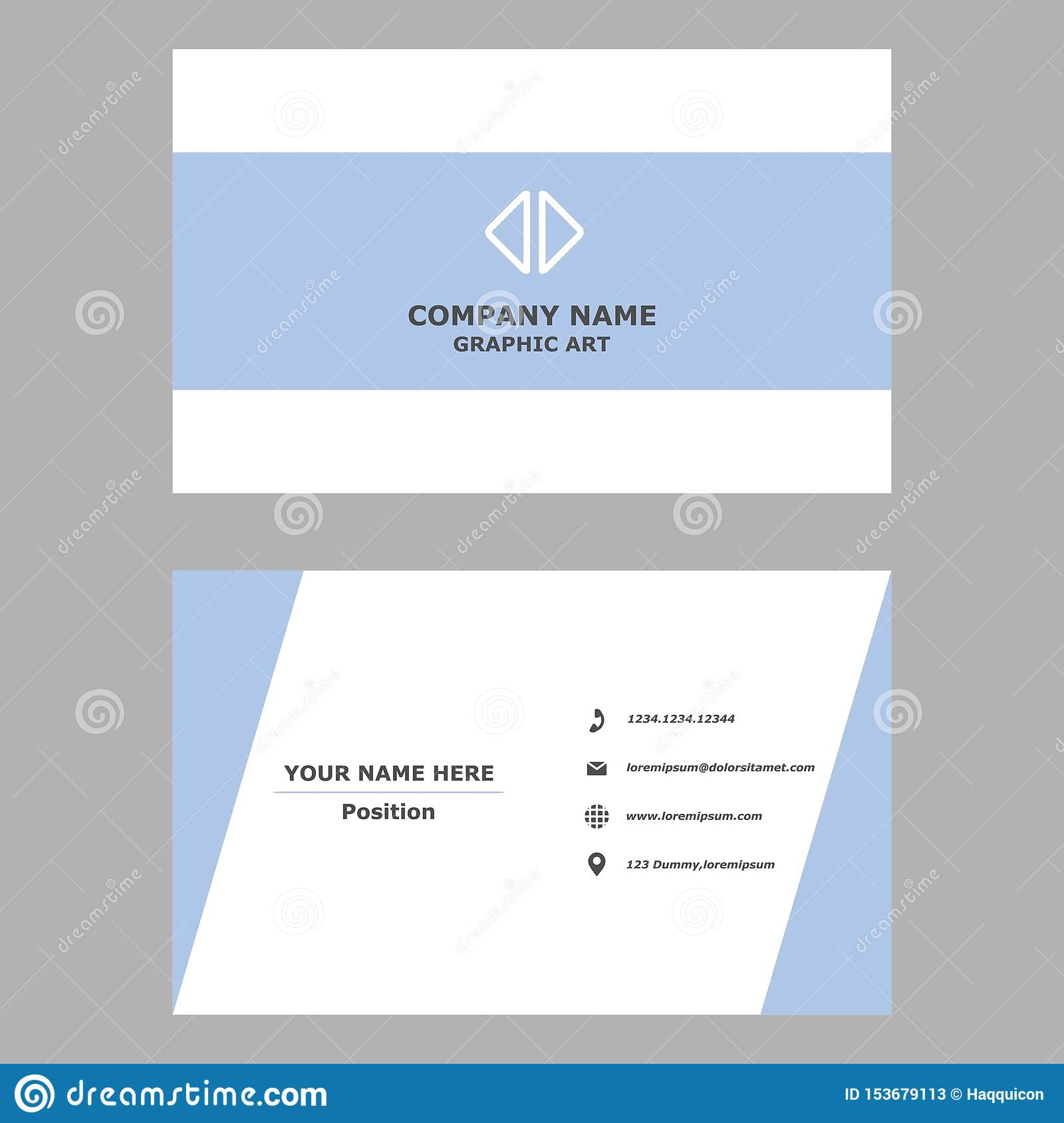 Modern business card.clean design template for professional,personal and company.