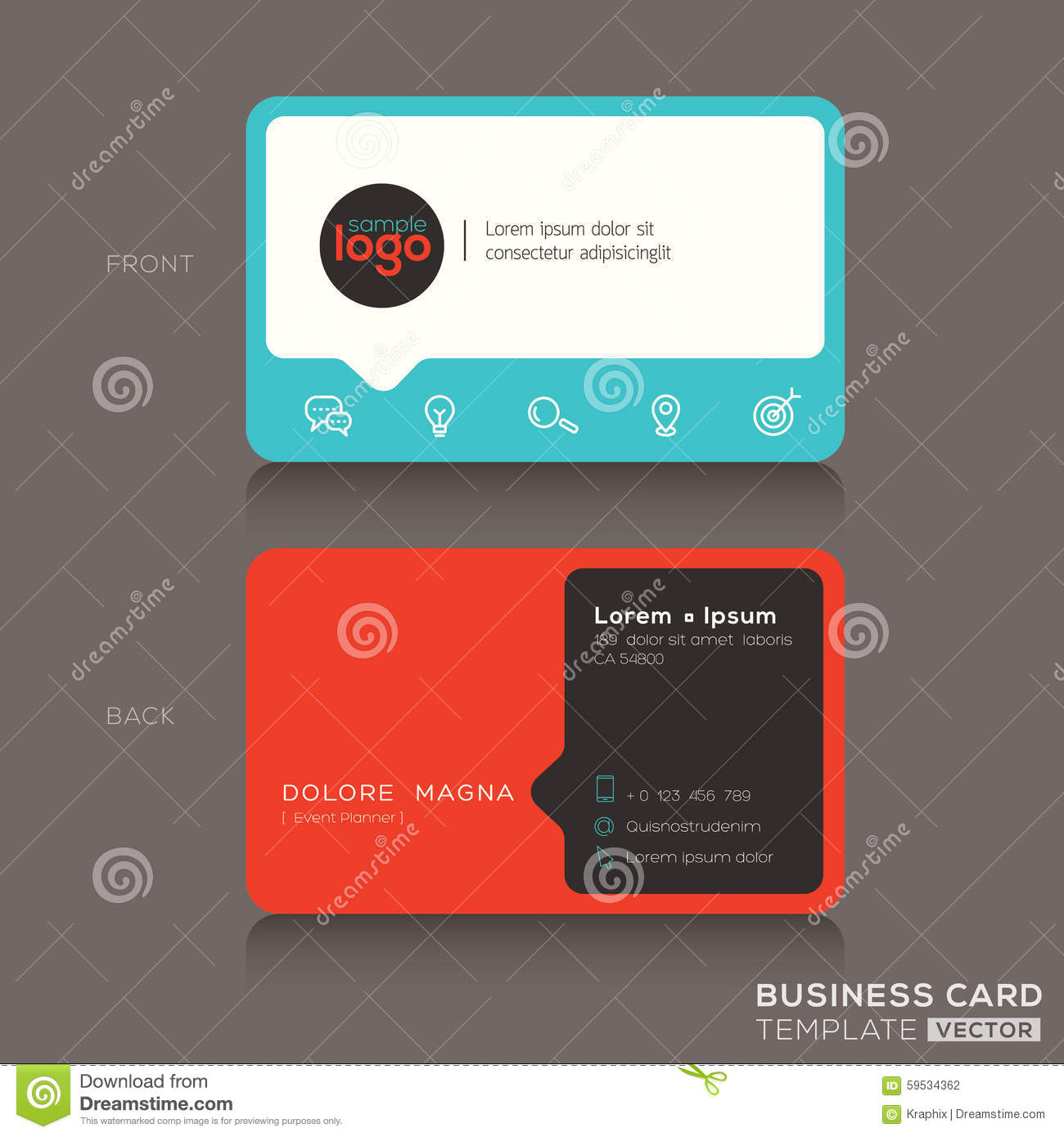 Modern business card design template stock vector image 59534362 modern business card design template magicingreecefo Choice Image