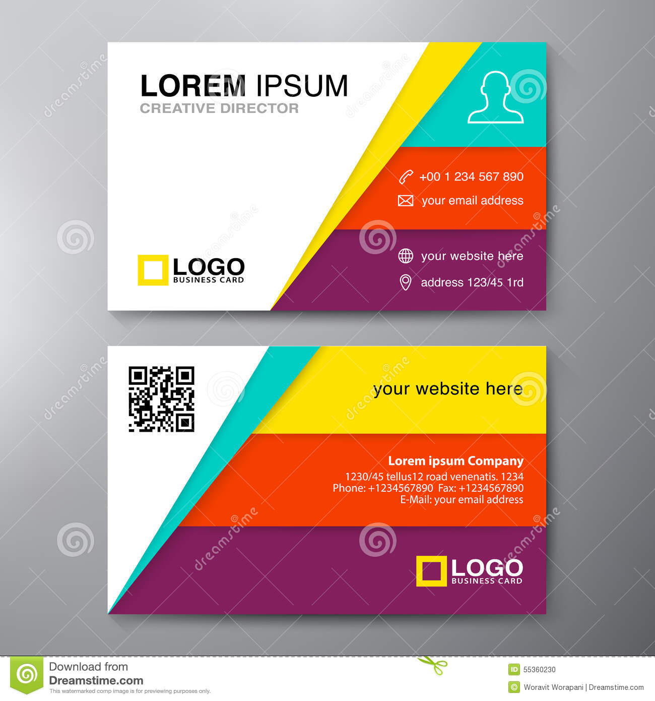 Modern Business Card Design Template Stock Vector Image - Business card design template