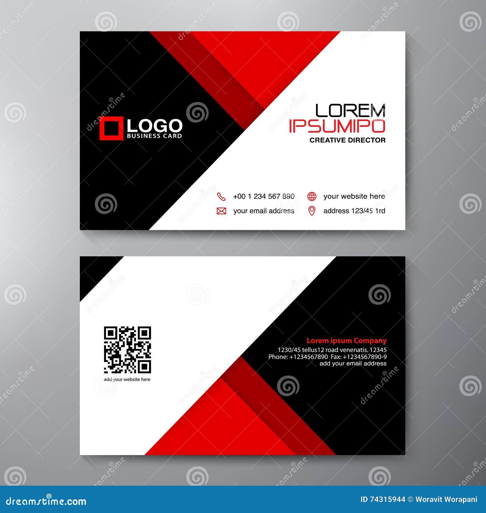 Modern Business Card Design Template Stock Vector