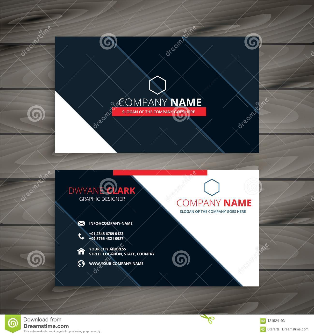 Modern business card design template stock vector illustration of modern business card design template fbccfo Image collections
