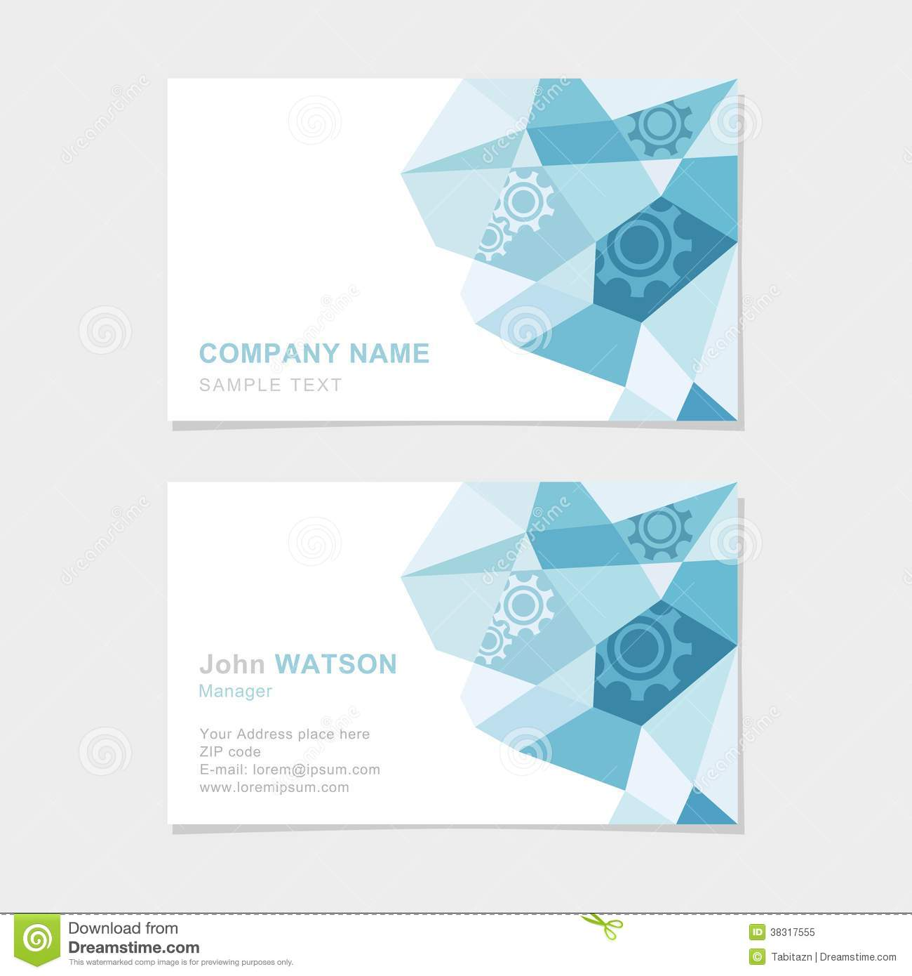 Modern business card with flat abstract triangle p stock vector modern business card with flat abstract triangle p royalty free stock photo reheart Choice Image