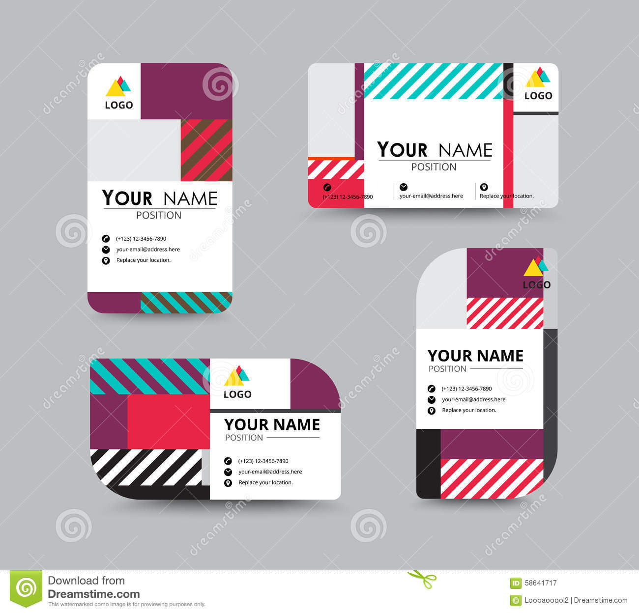 Modern Business Card And Name Card Design Stock Vector ...