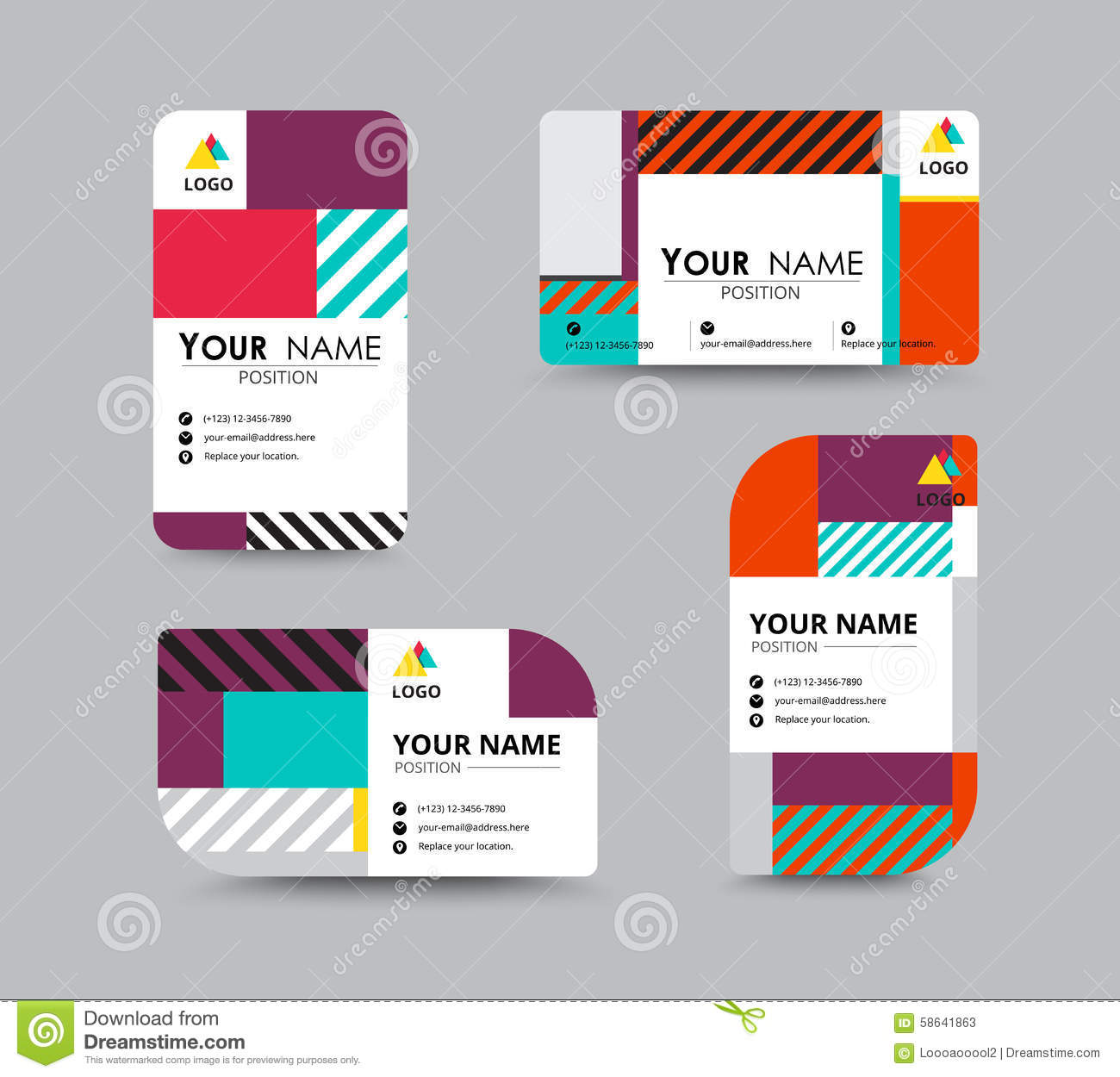 Modern Business Card And Name Card Design Vector Image – Sample of Name Card