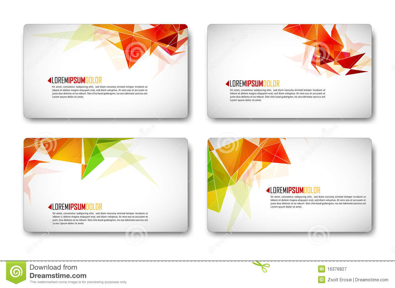 Modern Business-Card Set Royalty Free Stock Photography - Image ...