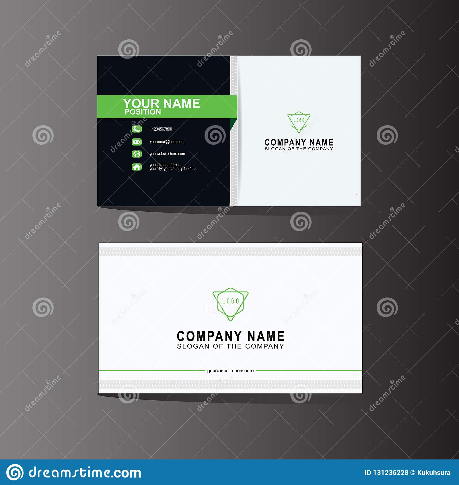 Modern Business Card Template Background Vector Illustration