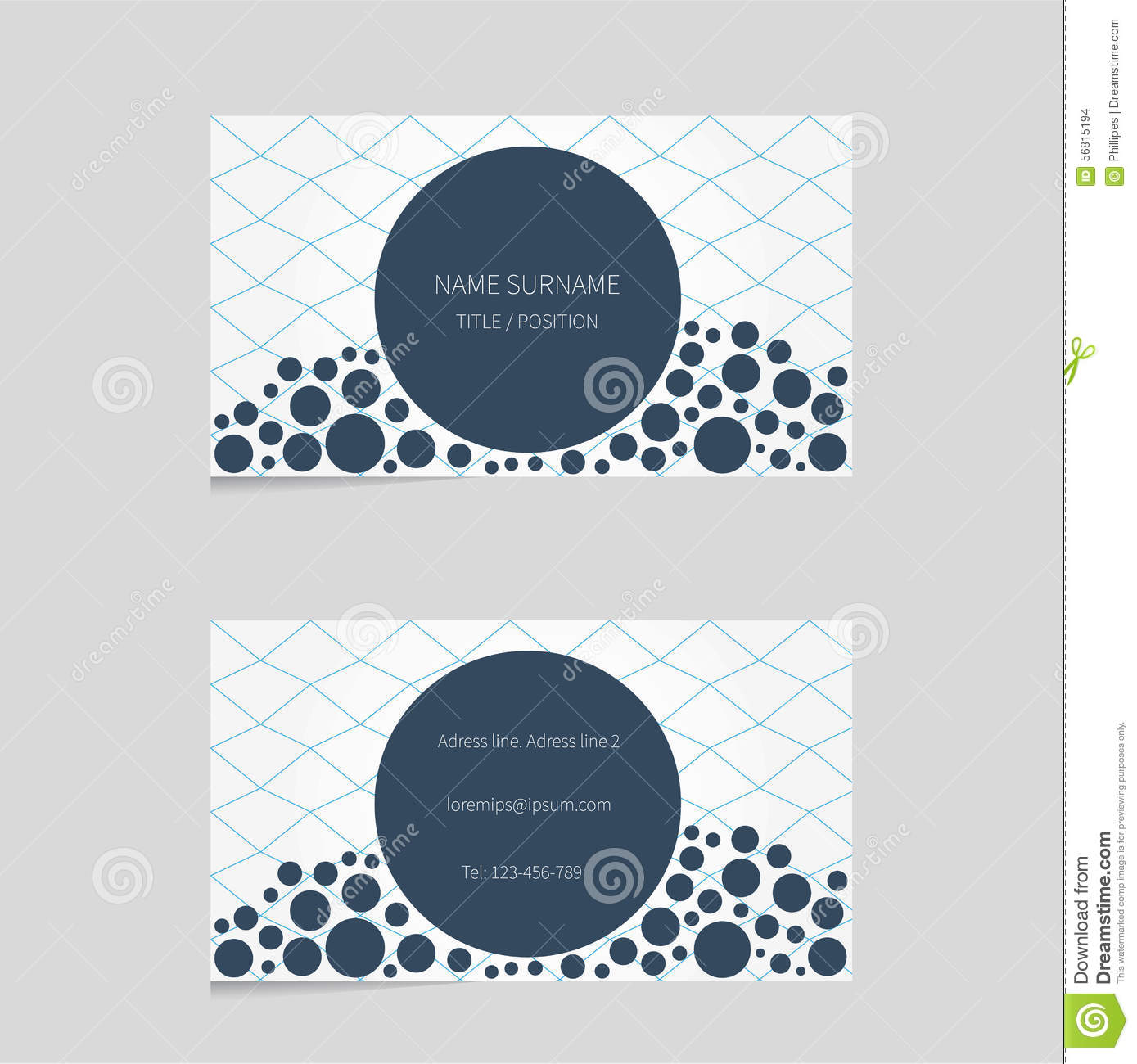 Modern business card template with bubbles stock vector modern business card template with bubbles royalty free vector accmission Images
