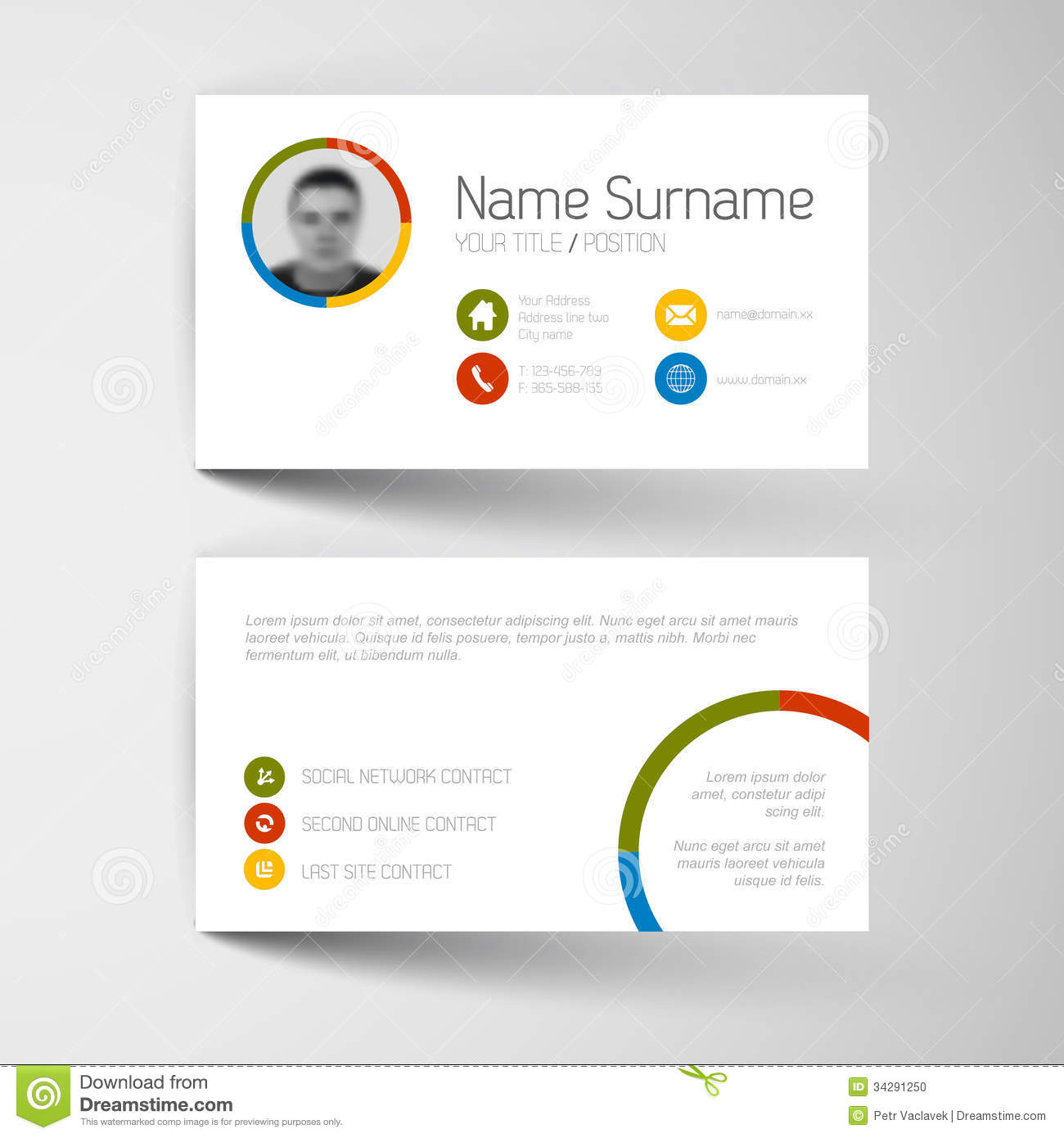 Modern business card template with flat user interface stock vector modern business card template with flat user interface royalty free stock photo alramifo Image collections