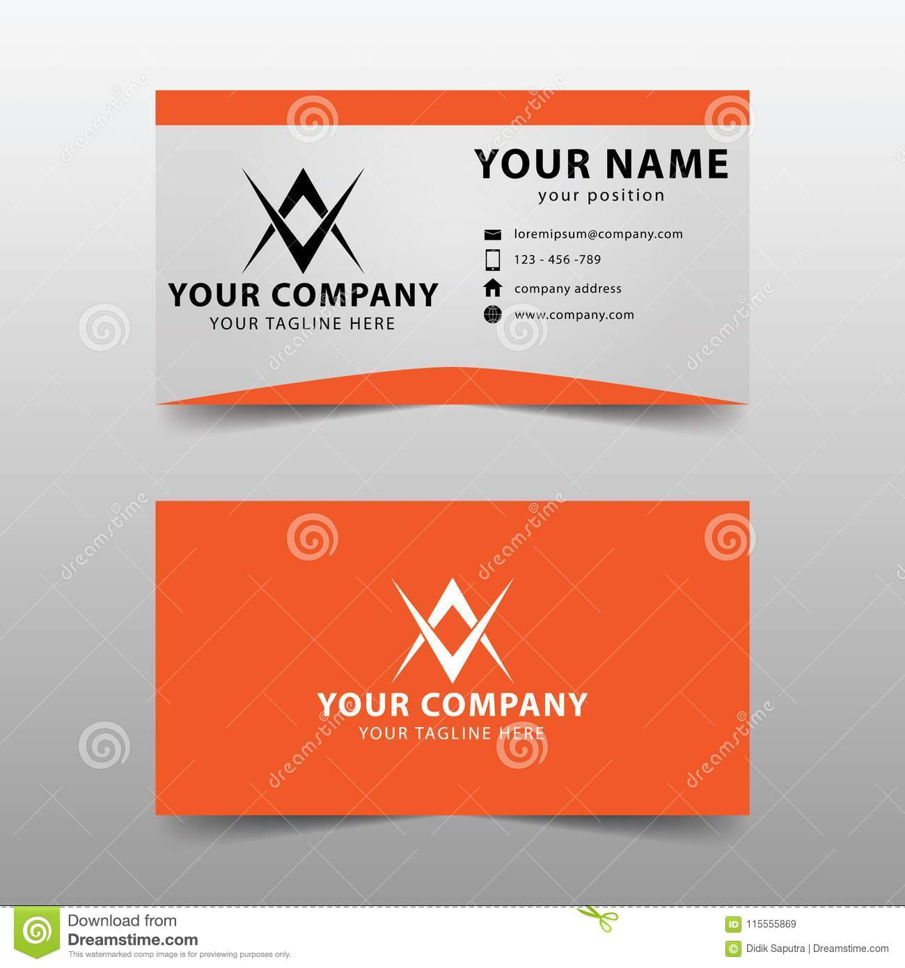 Modern business card template modern simple business card set stock download modern business card template modern simple business card set stock vector illustration of flashek Choice Image