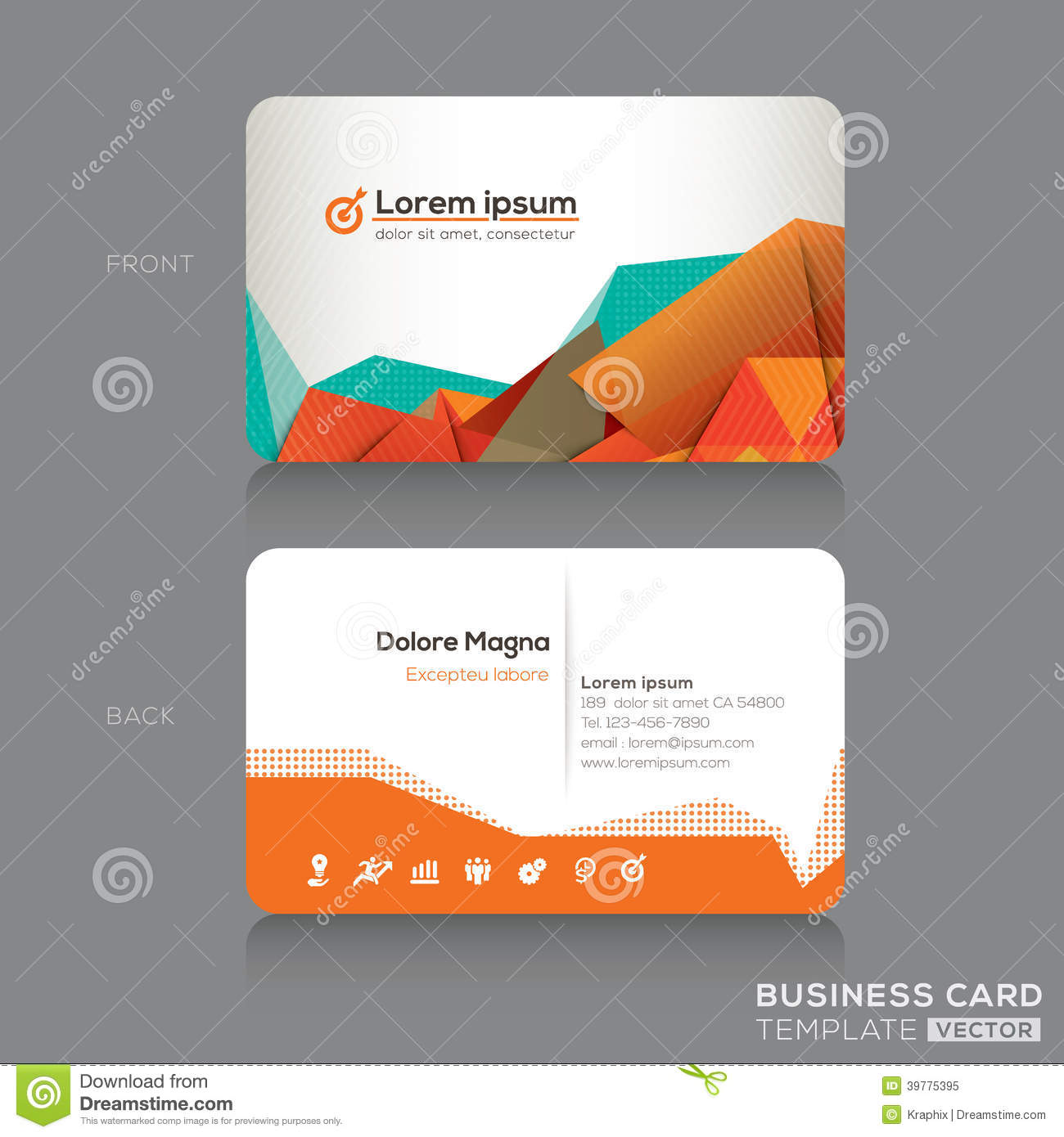 Modern Business Cards Design Template Stock Vector - Image ...