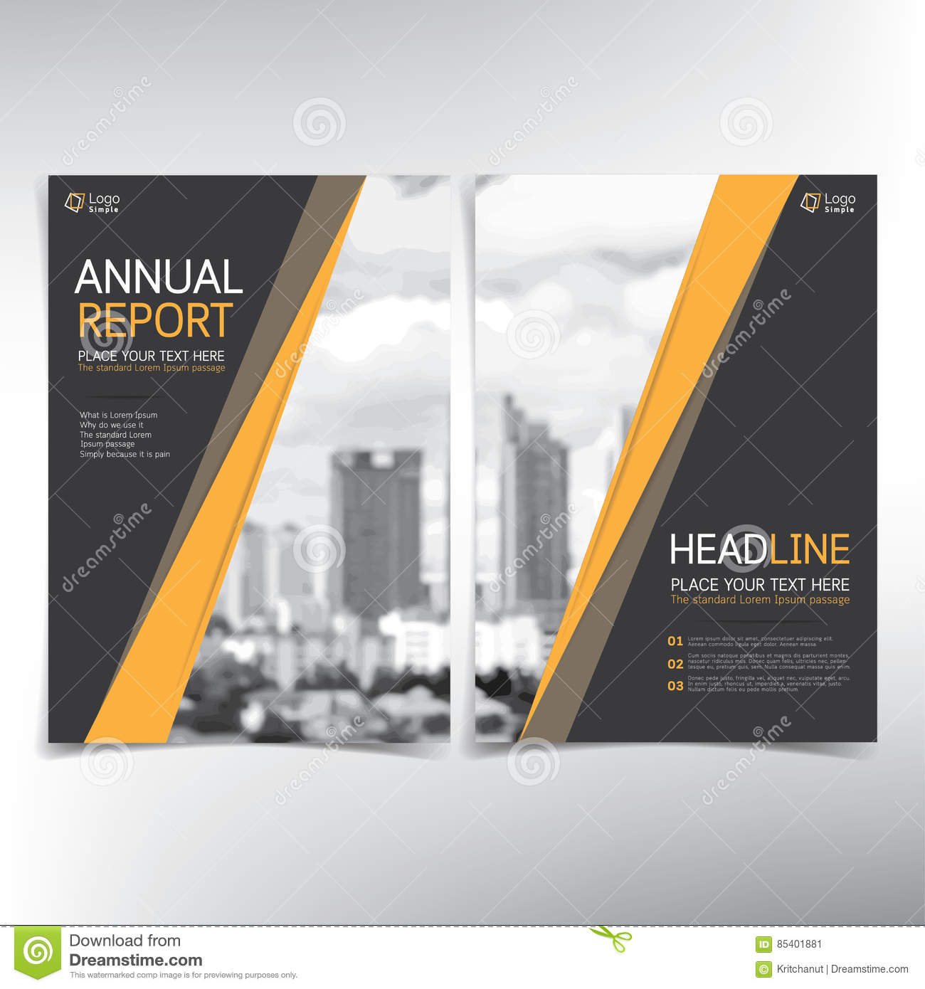 modern business cover page vector template condominium and real