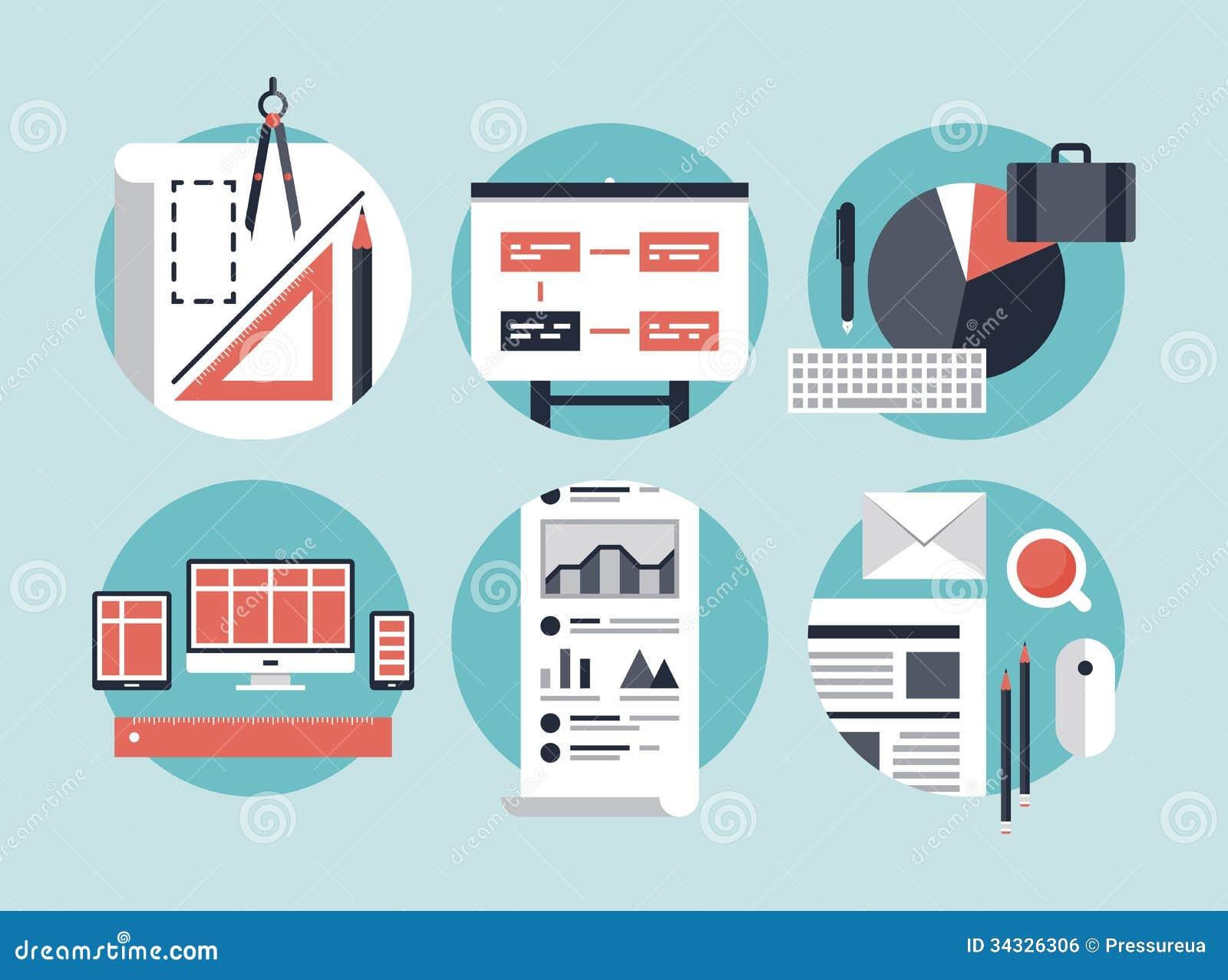 Modern Business Development Process Stock Vector Image 34326306
