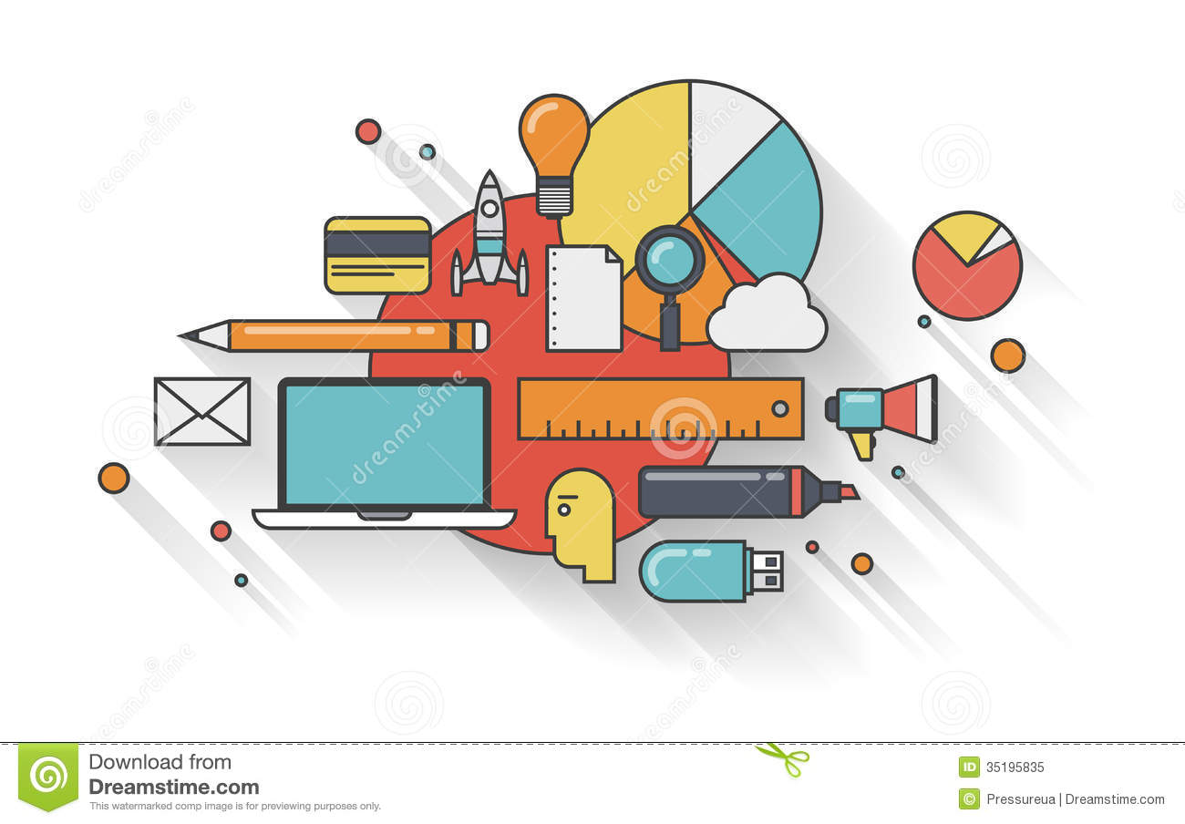 Modern Business Flat Illustration Concept Royalty Free ...