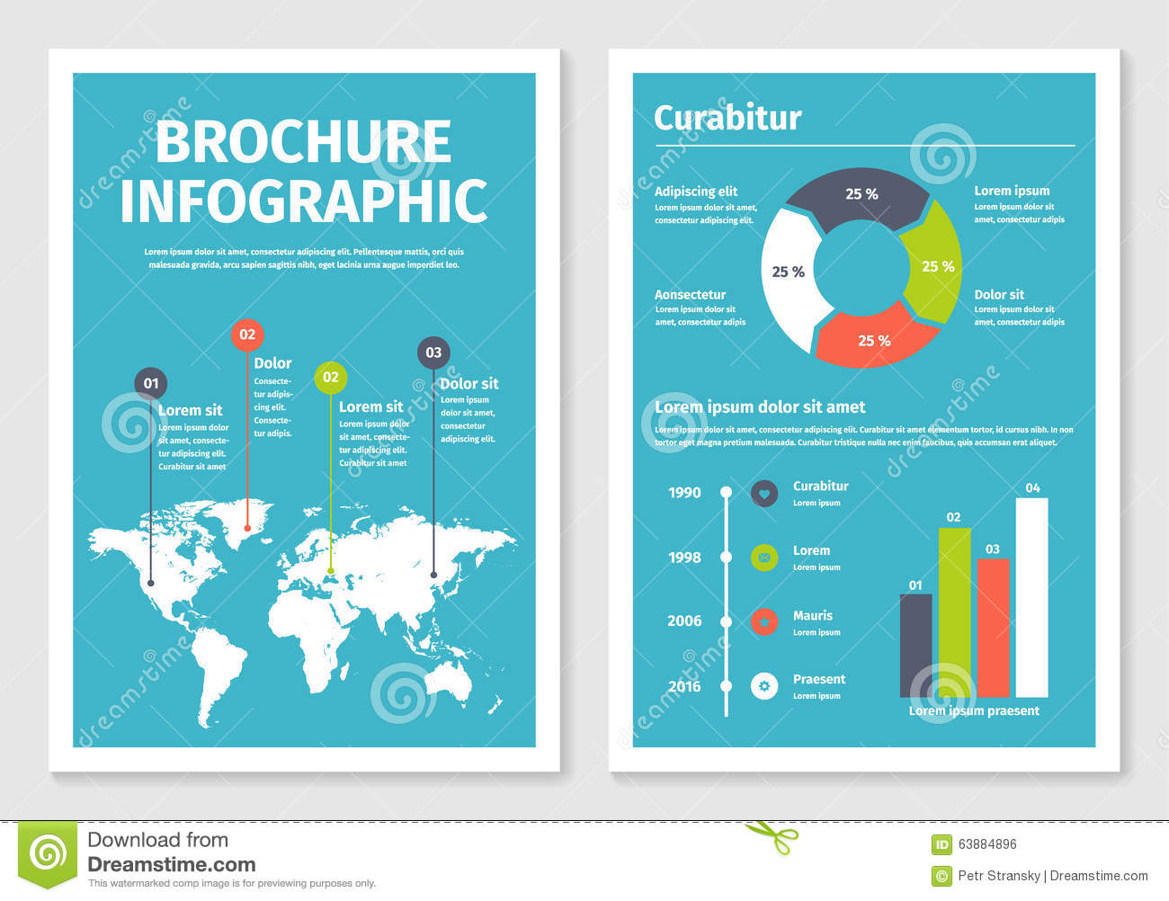 infographic brochure template - modern business infographic brochure template 1 stock
