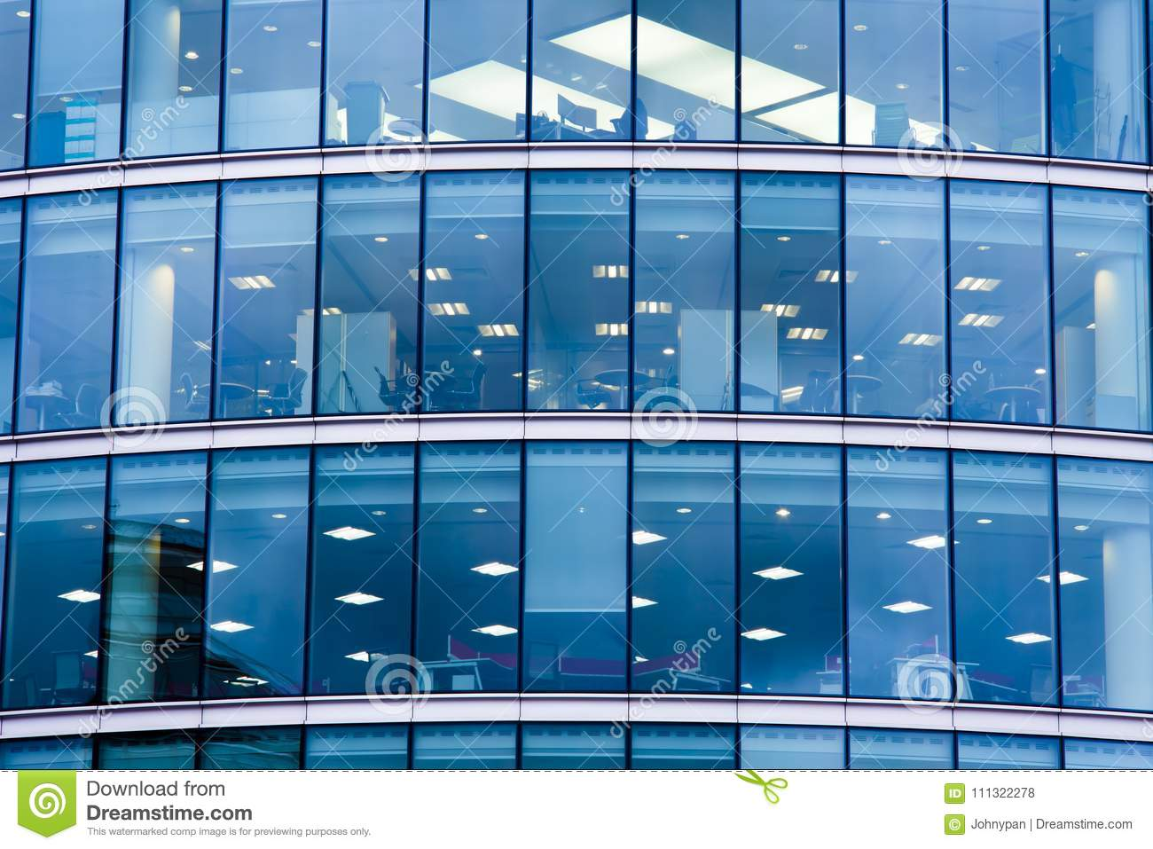 Modern business office building with glass