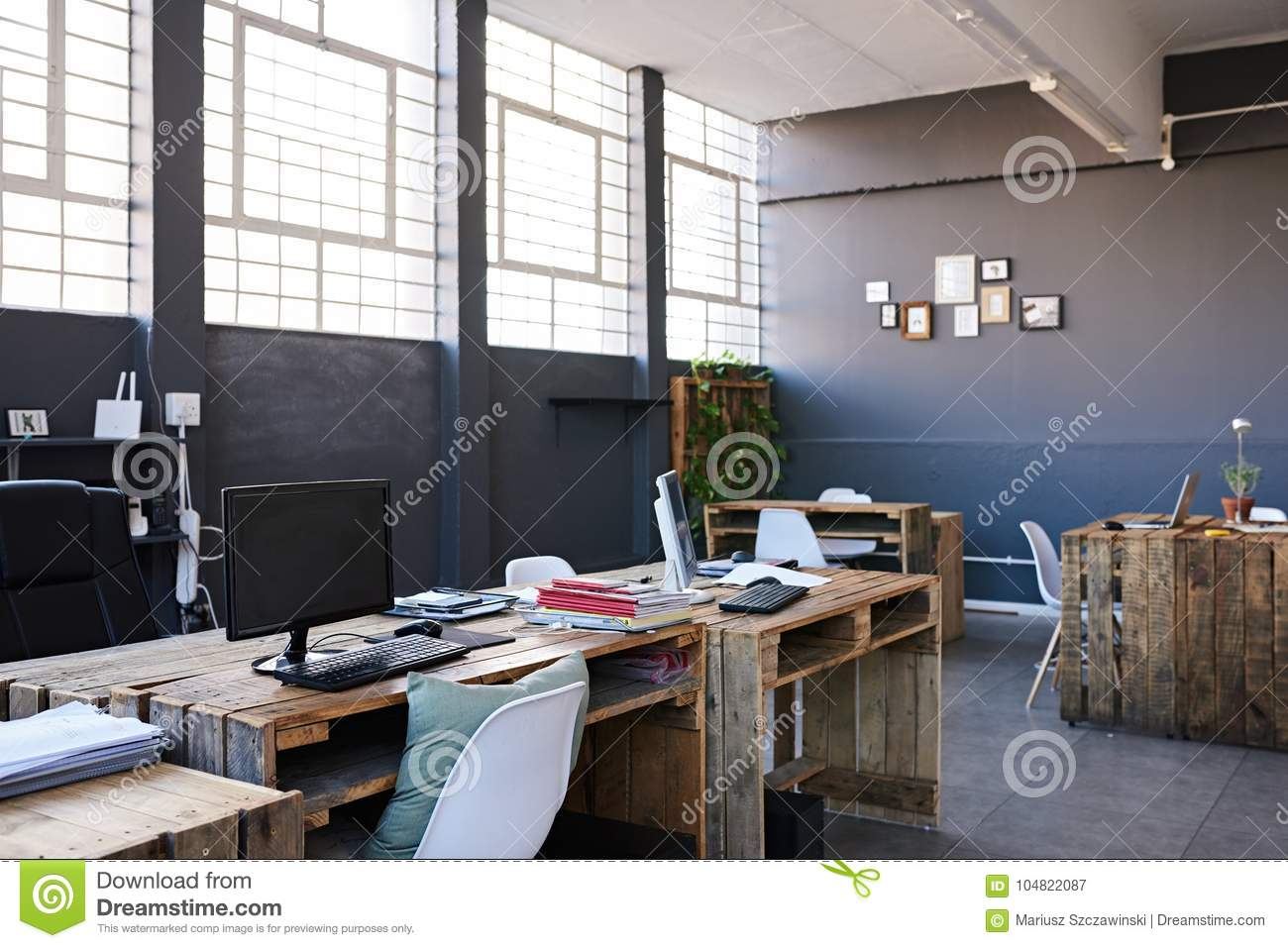 Interior Of A Contemporary Office Space Without Staff
