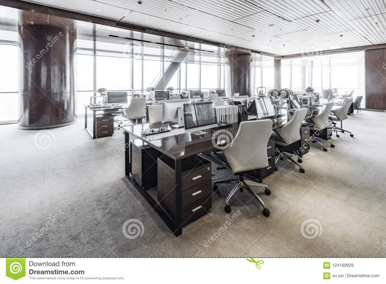 Modern business offices stock image. Image of computer ...