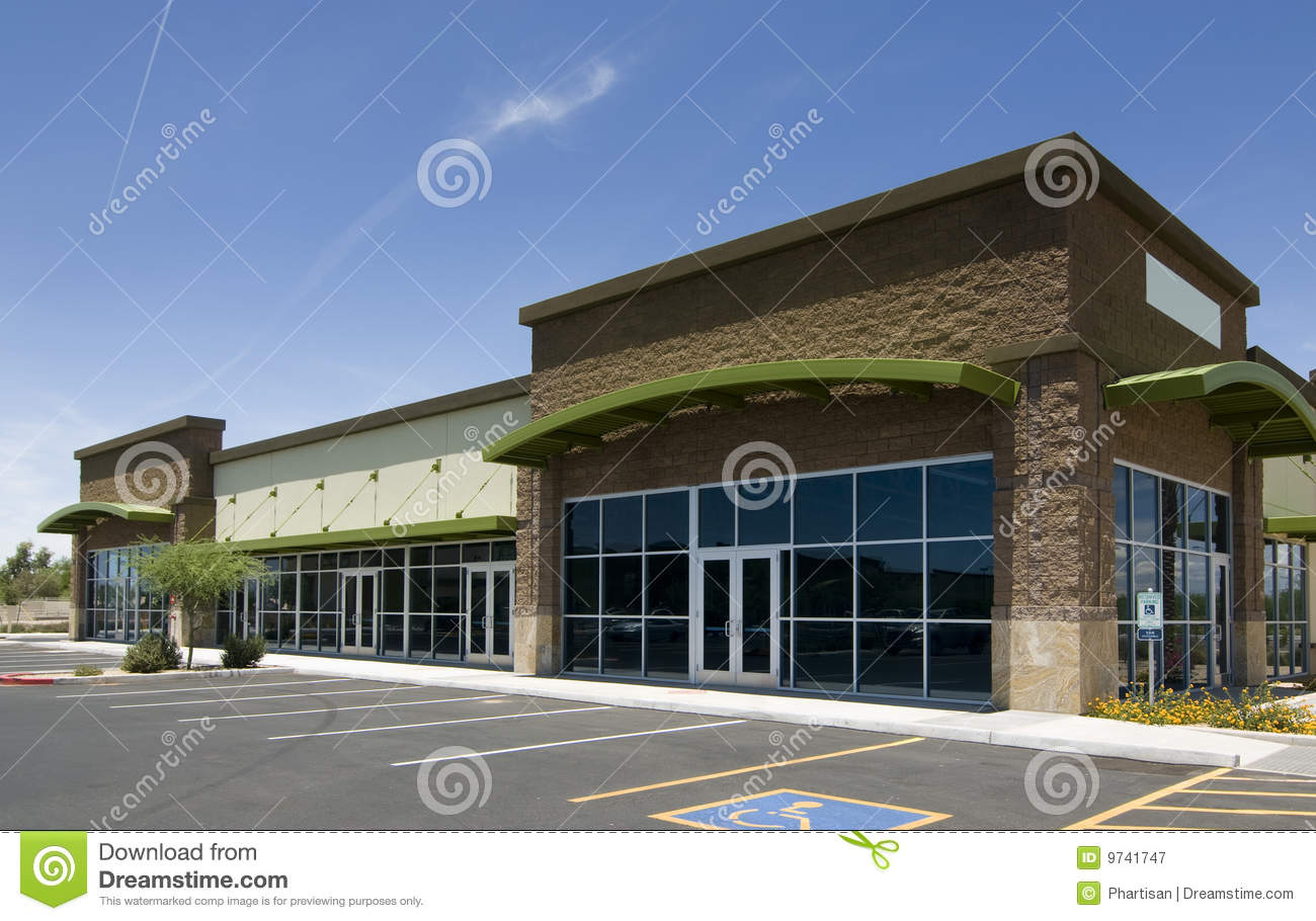 Modern business real estate architecture royalty free for Modern retail building design