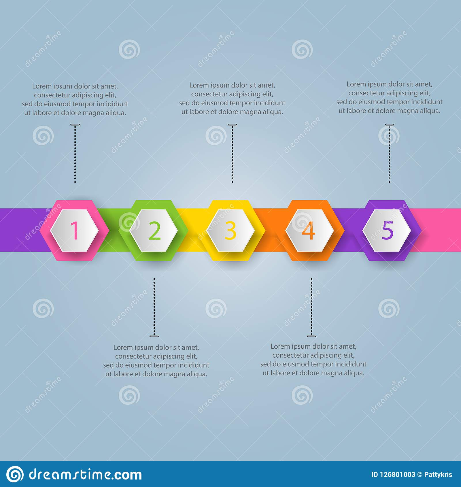 Modern business template. Vector illustration. Can be used for w