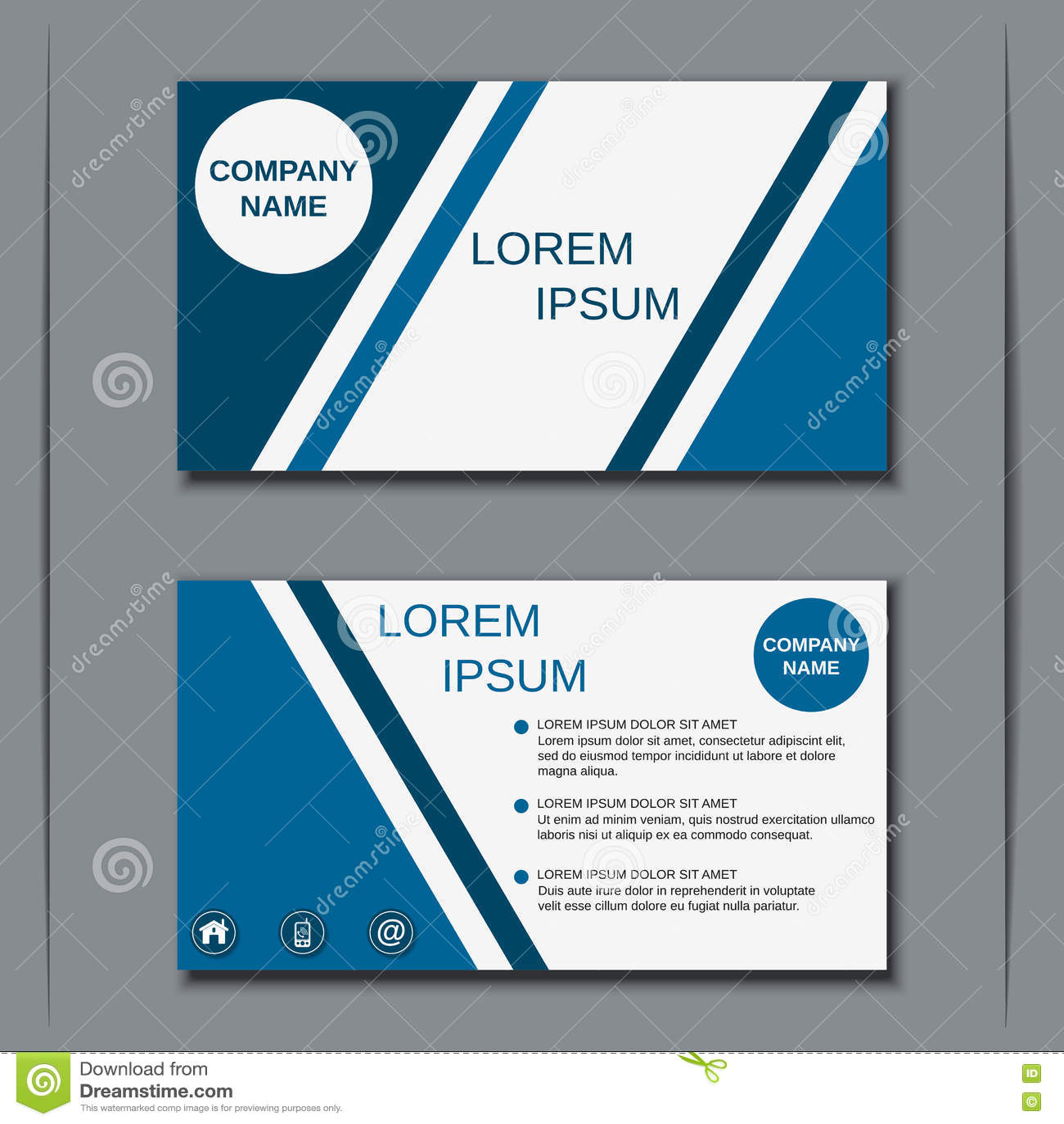Modern Business Visiting Card Design Stock Vector - Image: 72621833