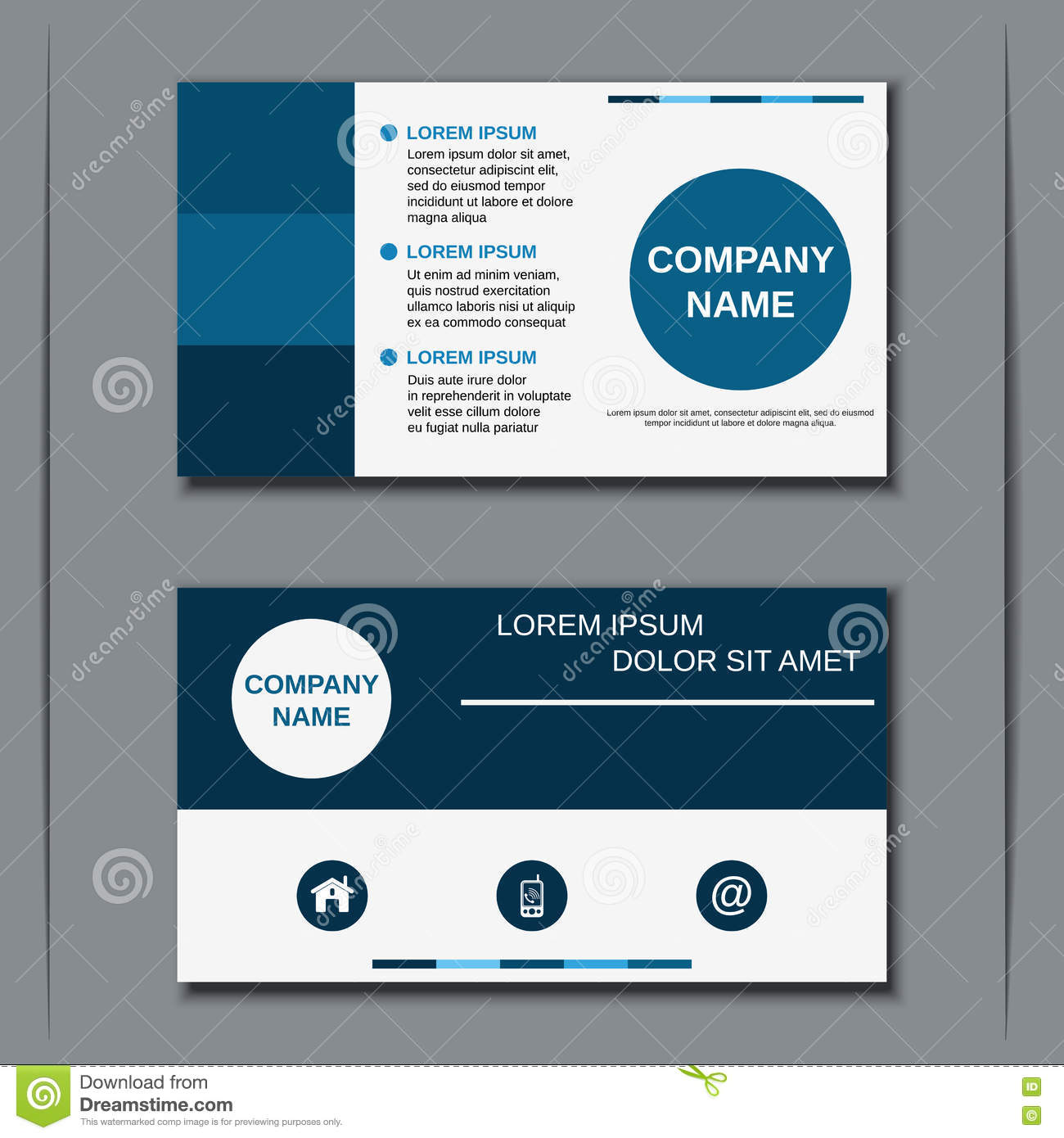 modern business visiting card design stock vector illustration of