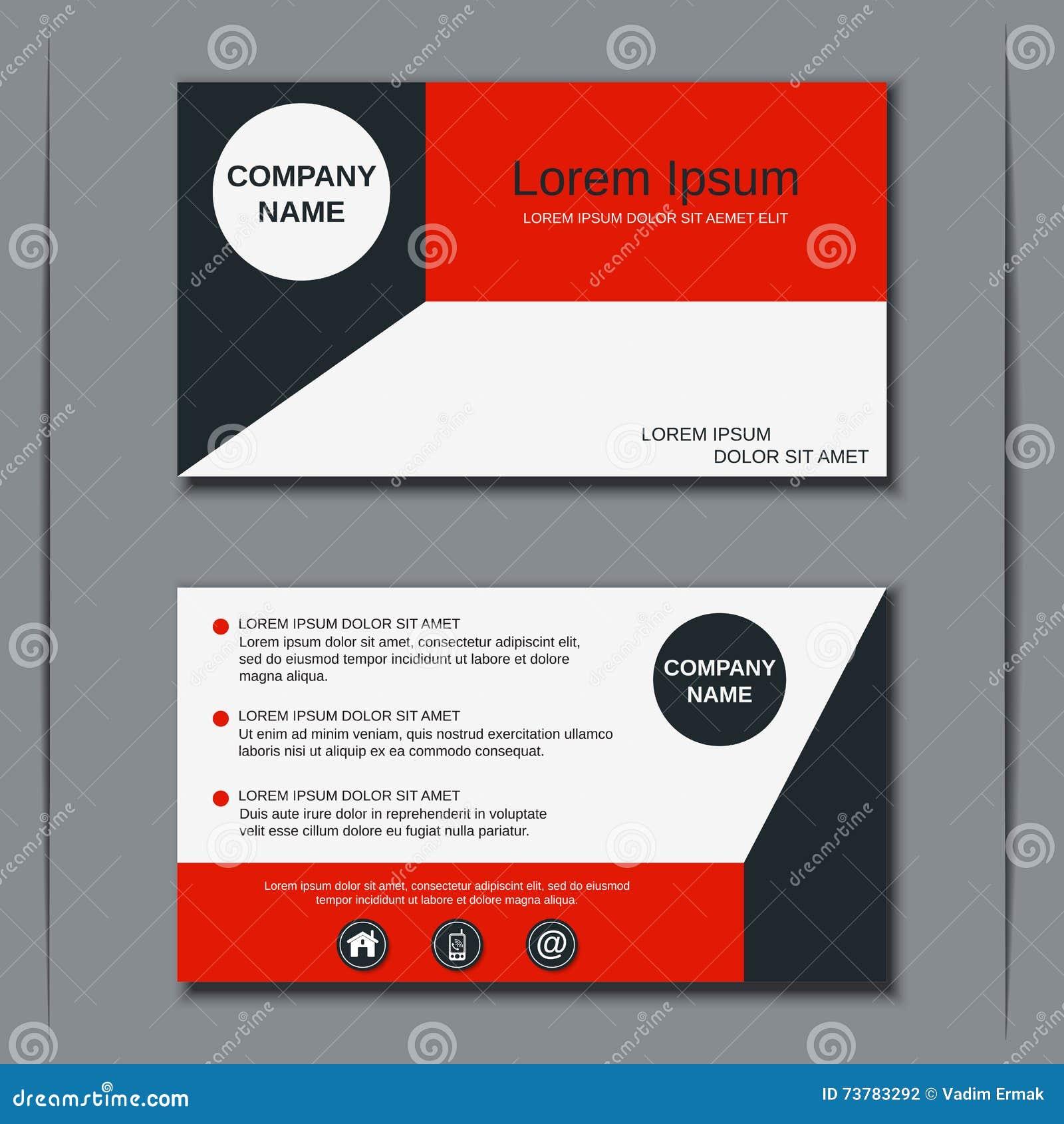 Modern Business Visiting Card Design Stock Vector - Image: 73783292
