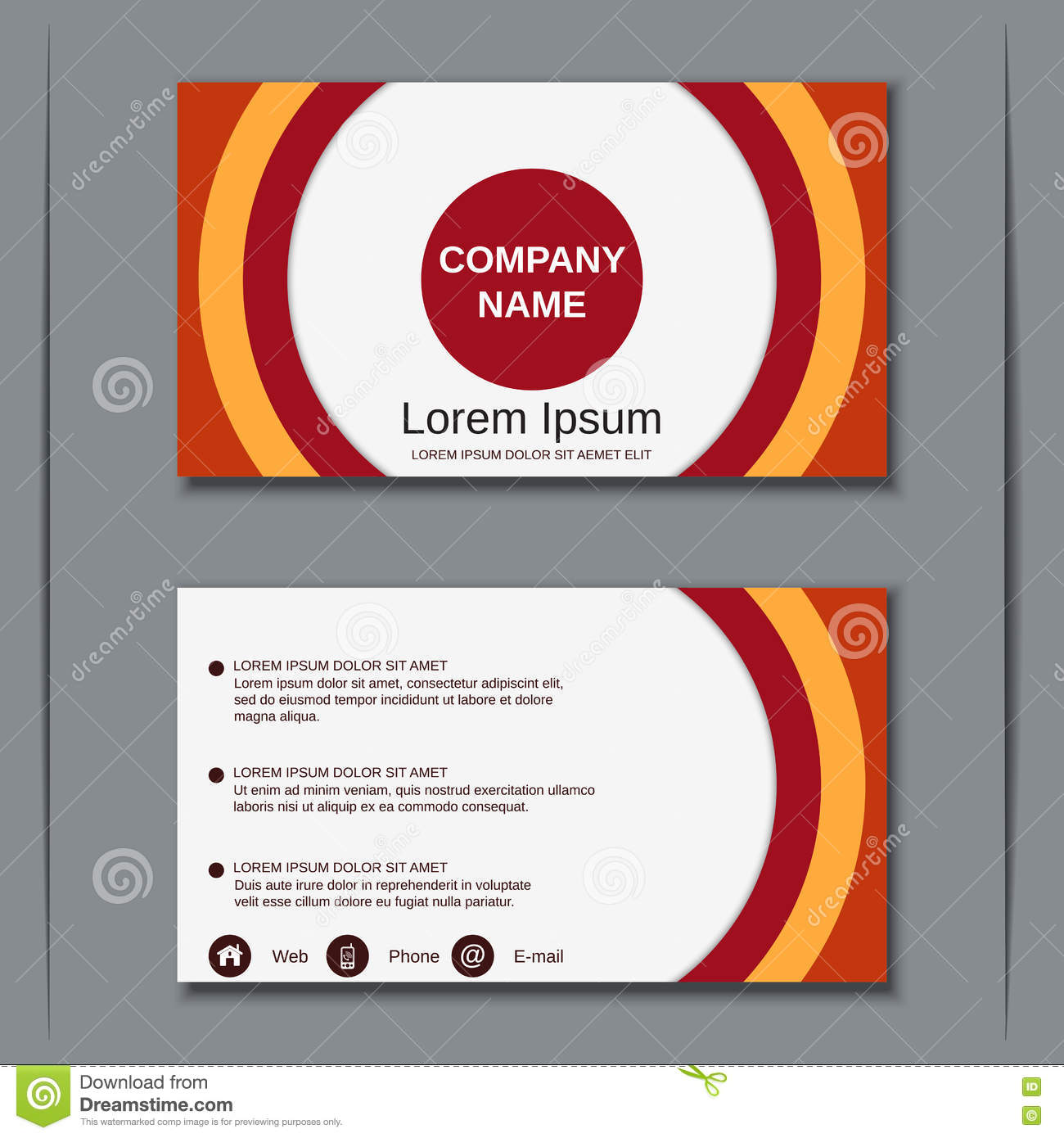 modern business visiting card design template stock vector