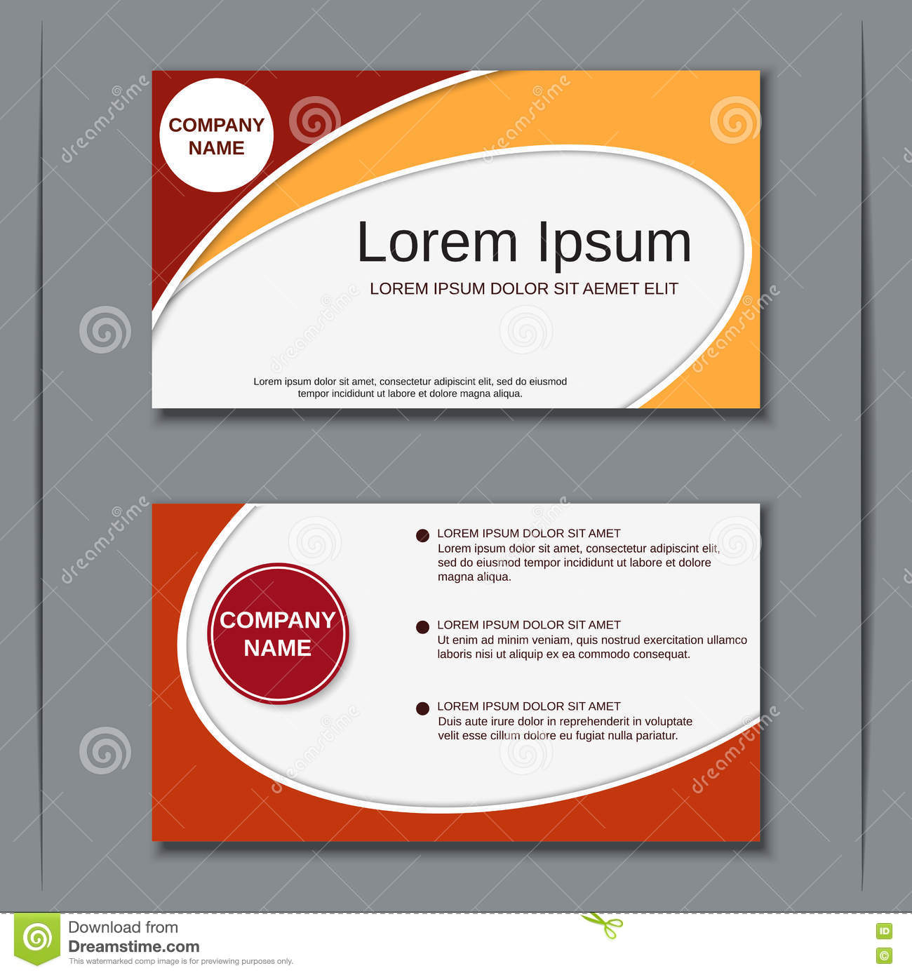 Modern business visiting card design template stock vector modern business visiting card design template maxwellsz