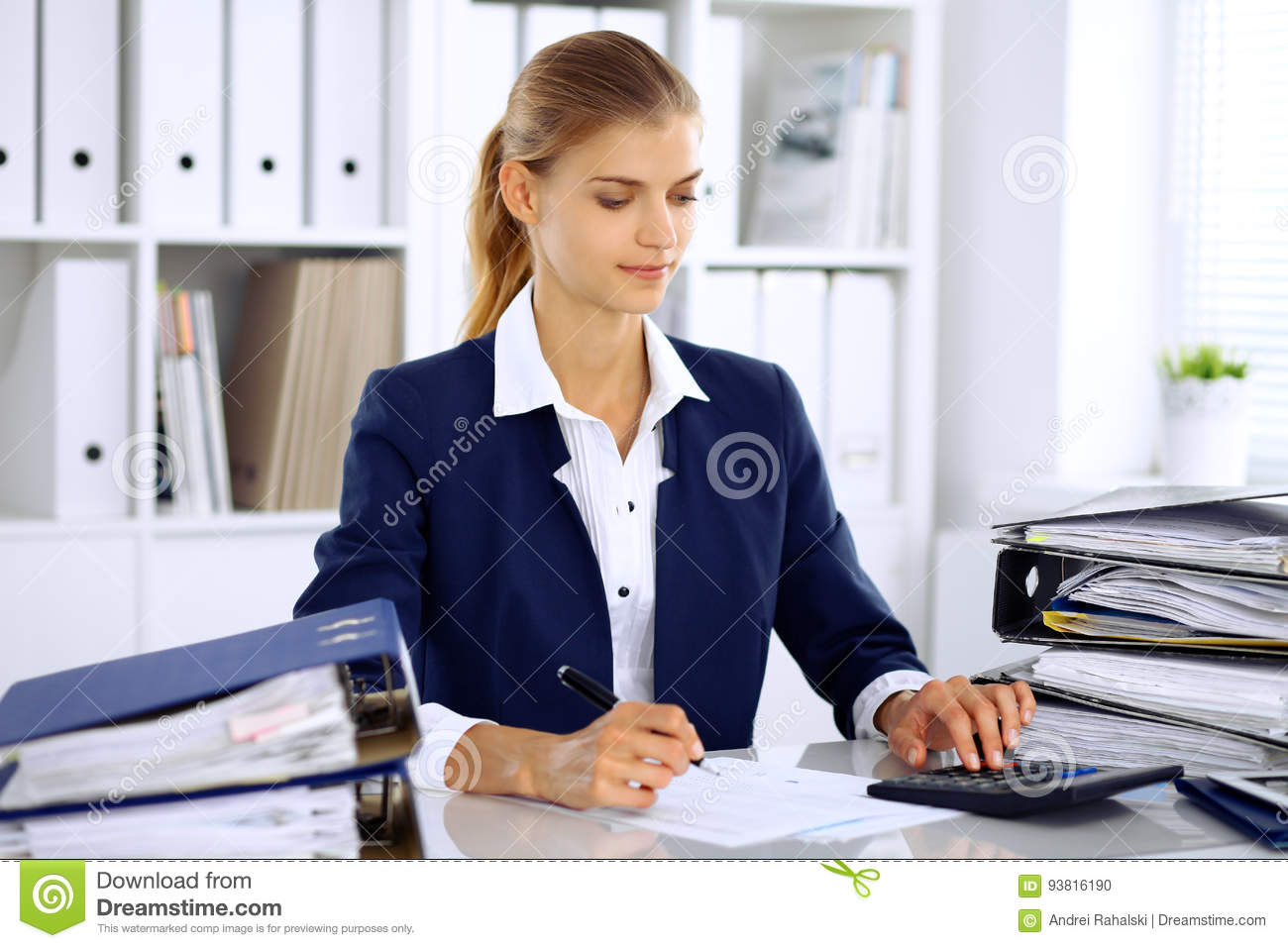 Accountant Business Female Office ...