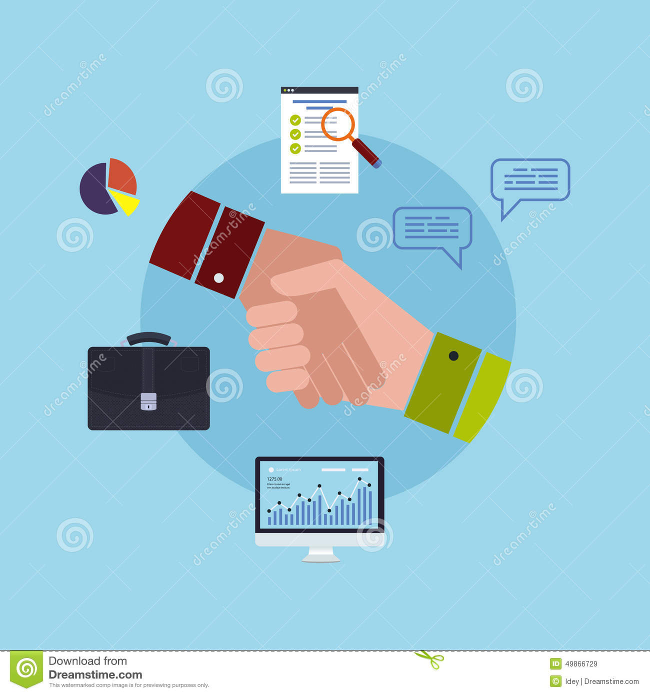modern business working elements stock vector