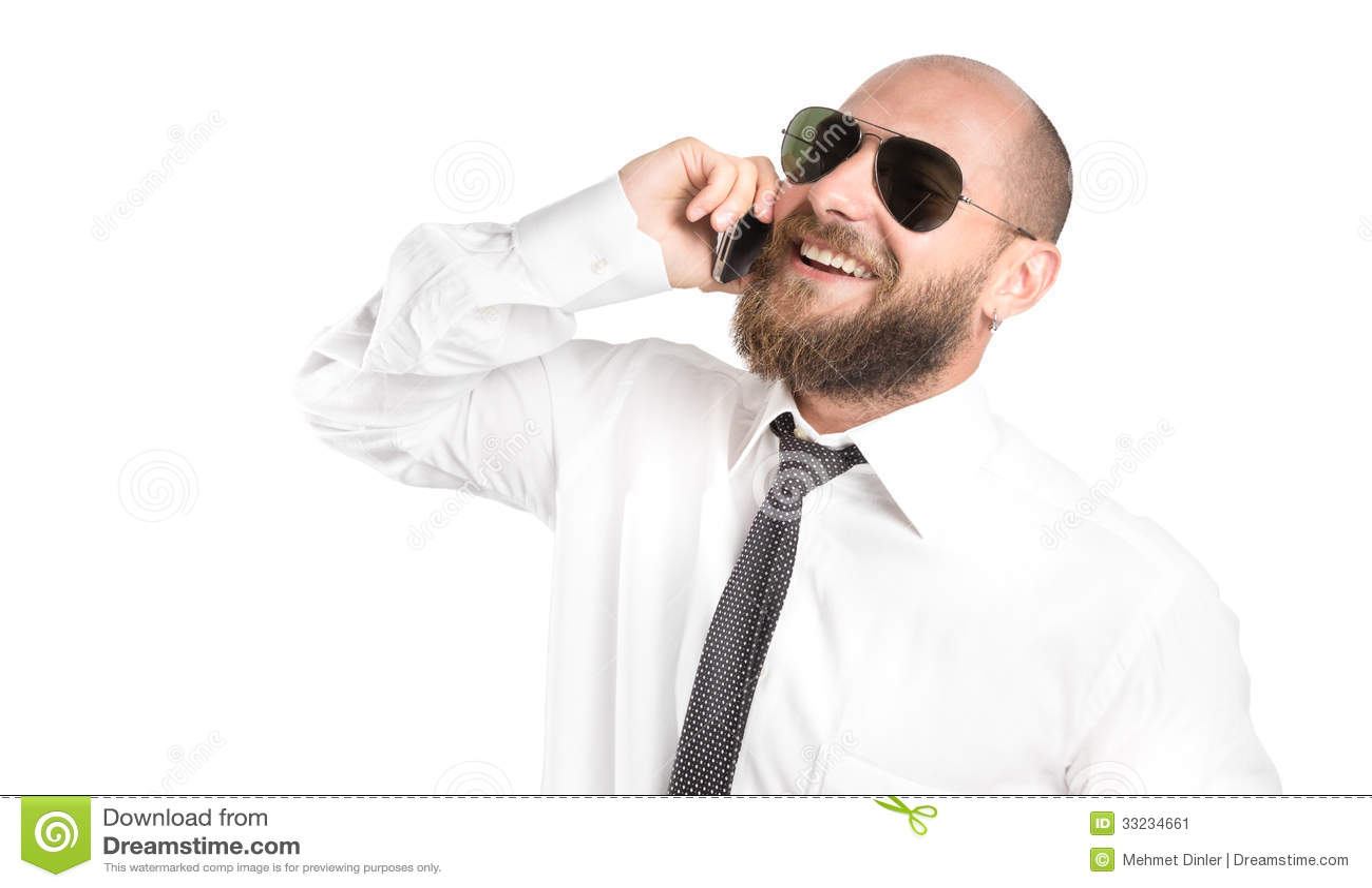 Modern Businessman Happy On Phone Stock Image Image Of Greeting