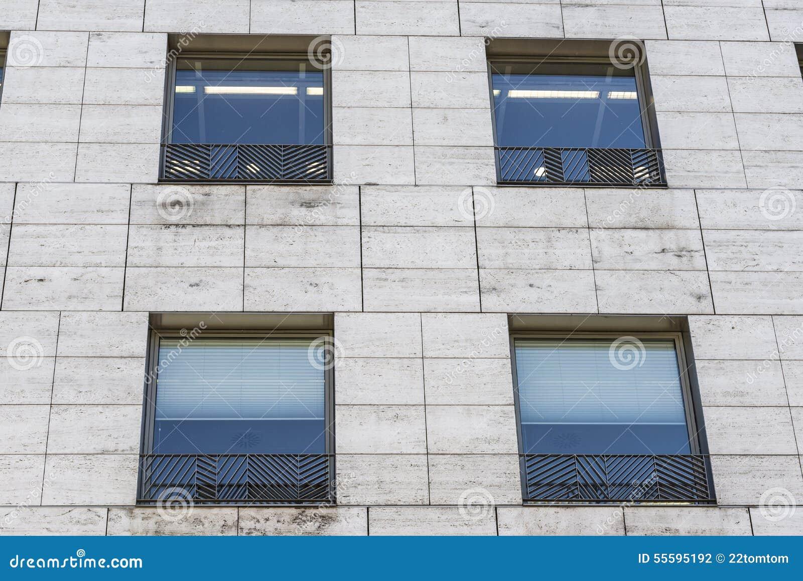 Modern byggnadsfacade