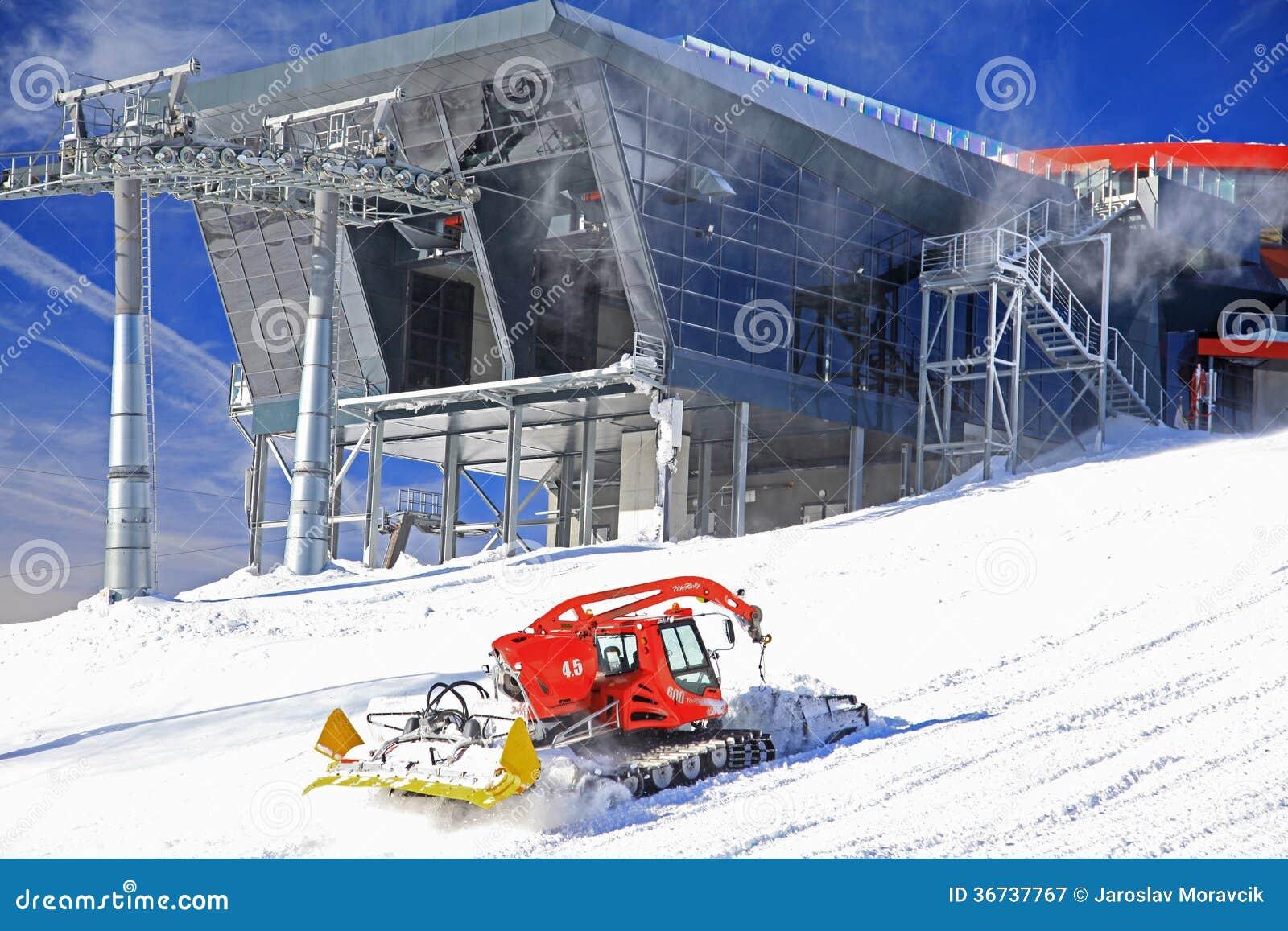 Modern cableway and groomer in ski resort jasna slovakia for Moderne skihotels