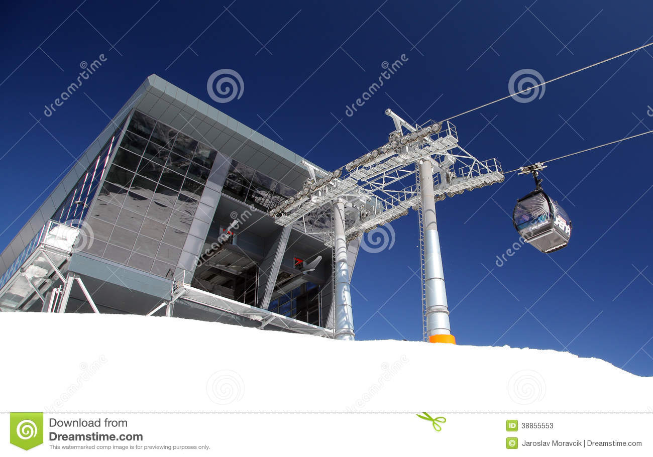 Modern cableway in low tatras slovakia editorial stock for Moderne skihotels