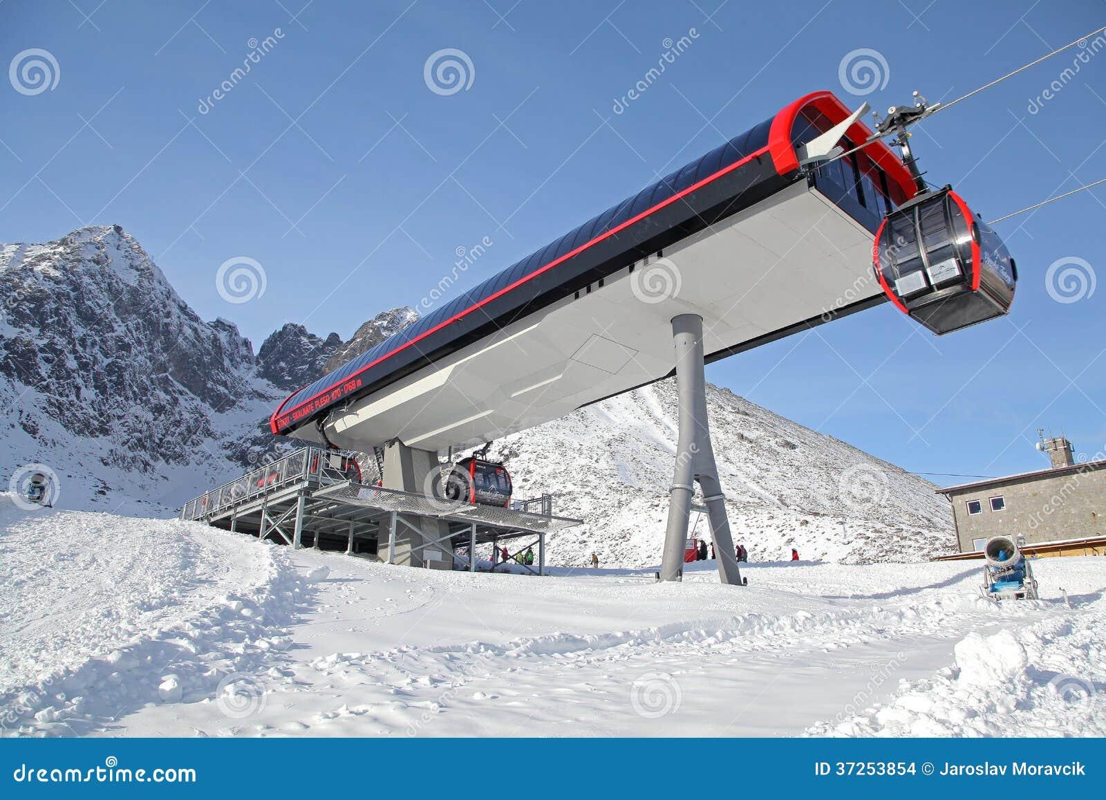 Modern cableway in ski resort tatranska lomnica slovakia for Moderne skihotels