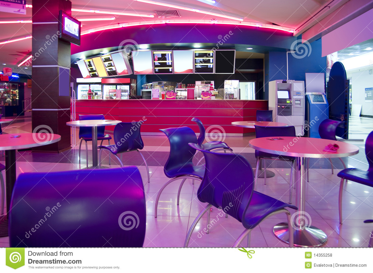 modern cafe interior royalty free stock photos - image: 14355258